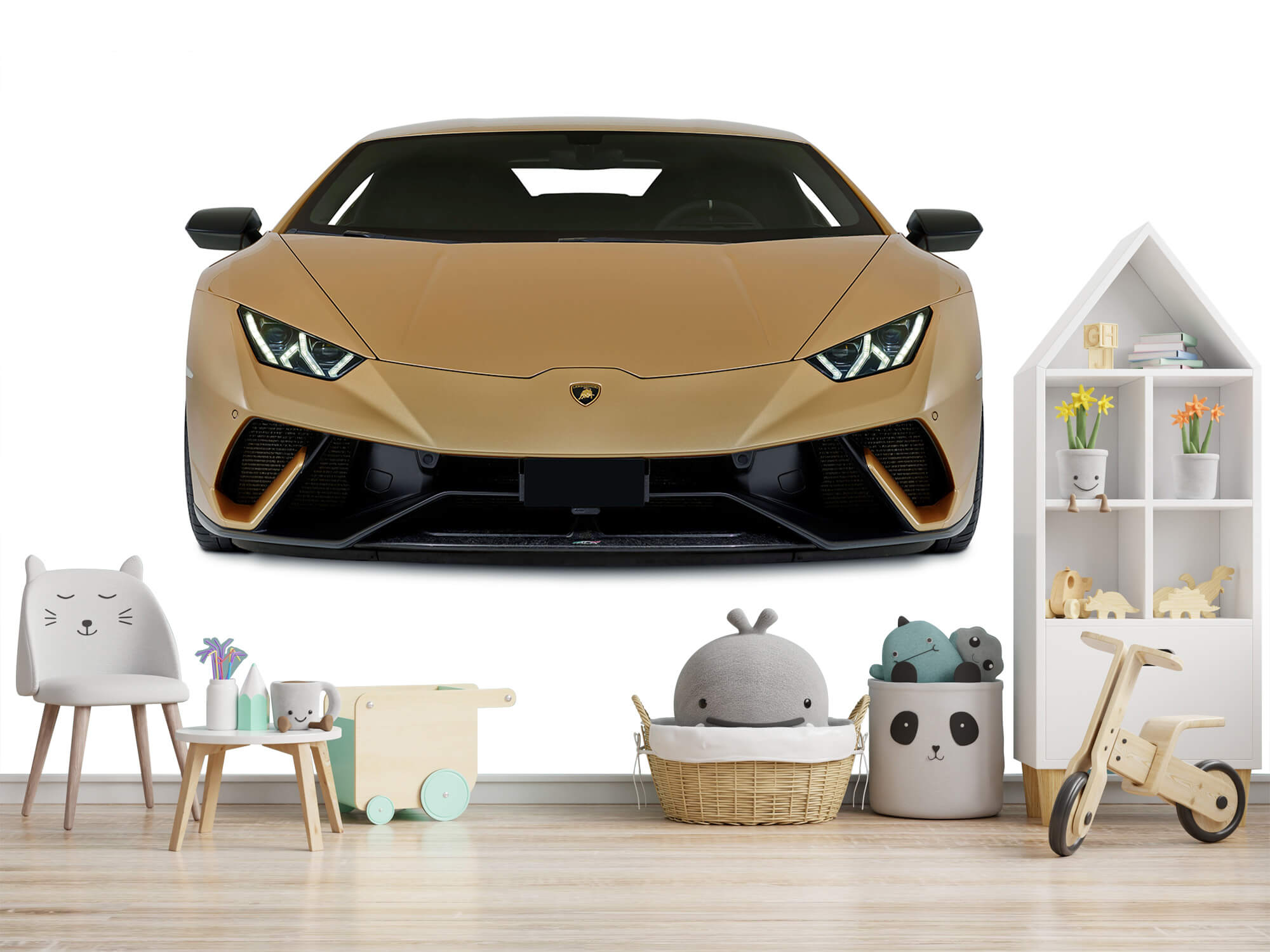 Wallpaper Lamborghini Huracán - Framsida, vit 2