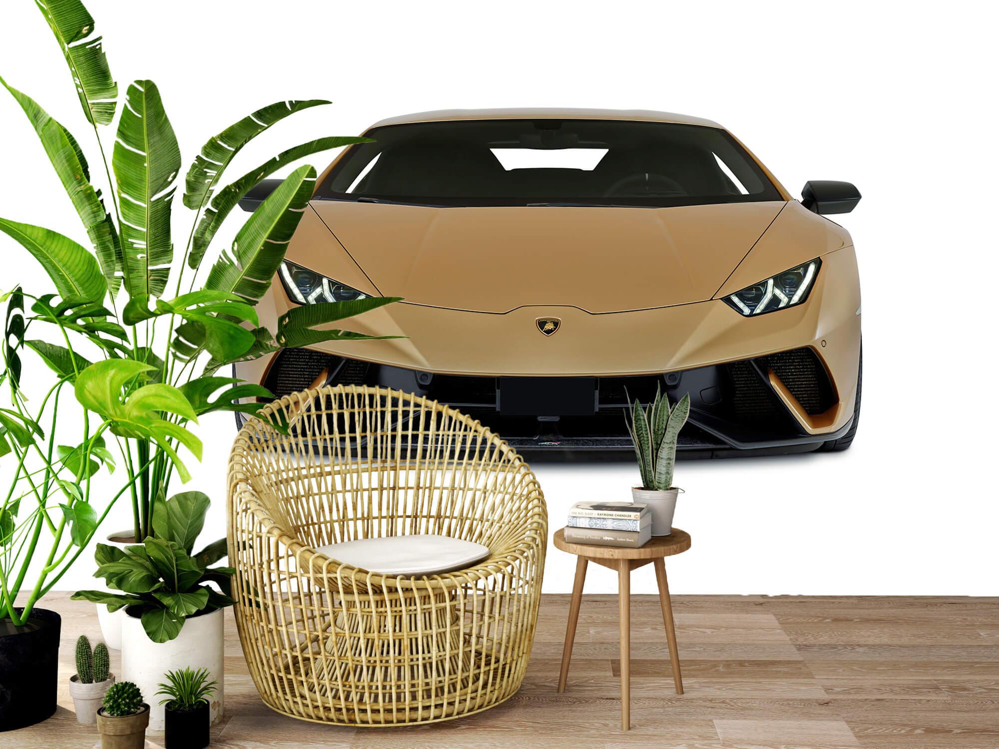 Wallpaper Lamborghini Huracán - Framsida, vit 3