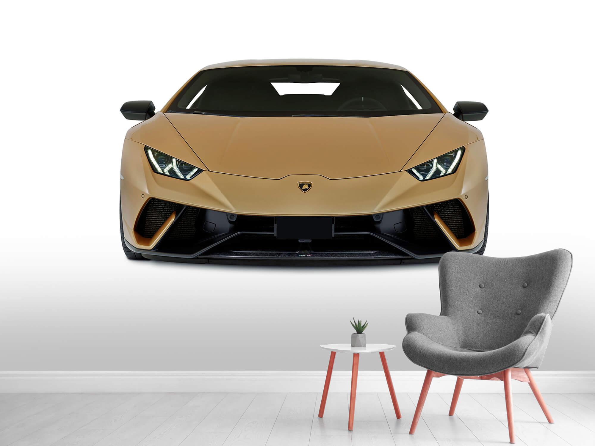 Wallpaper Lamborghini Huracán - Framsida, vit 8