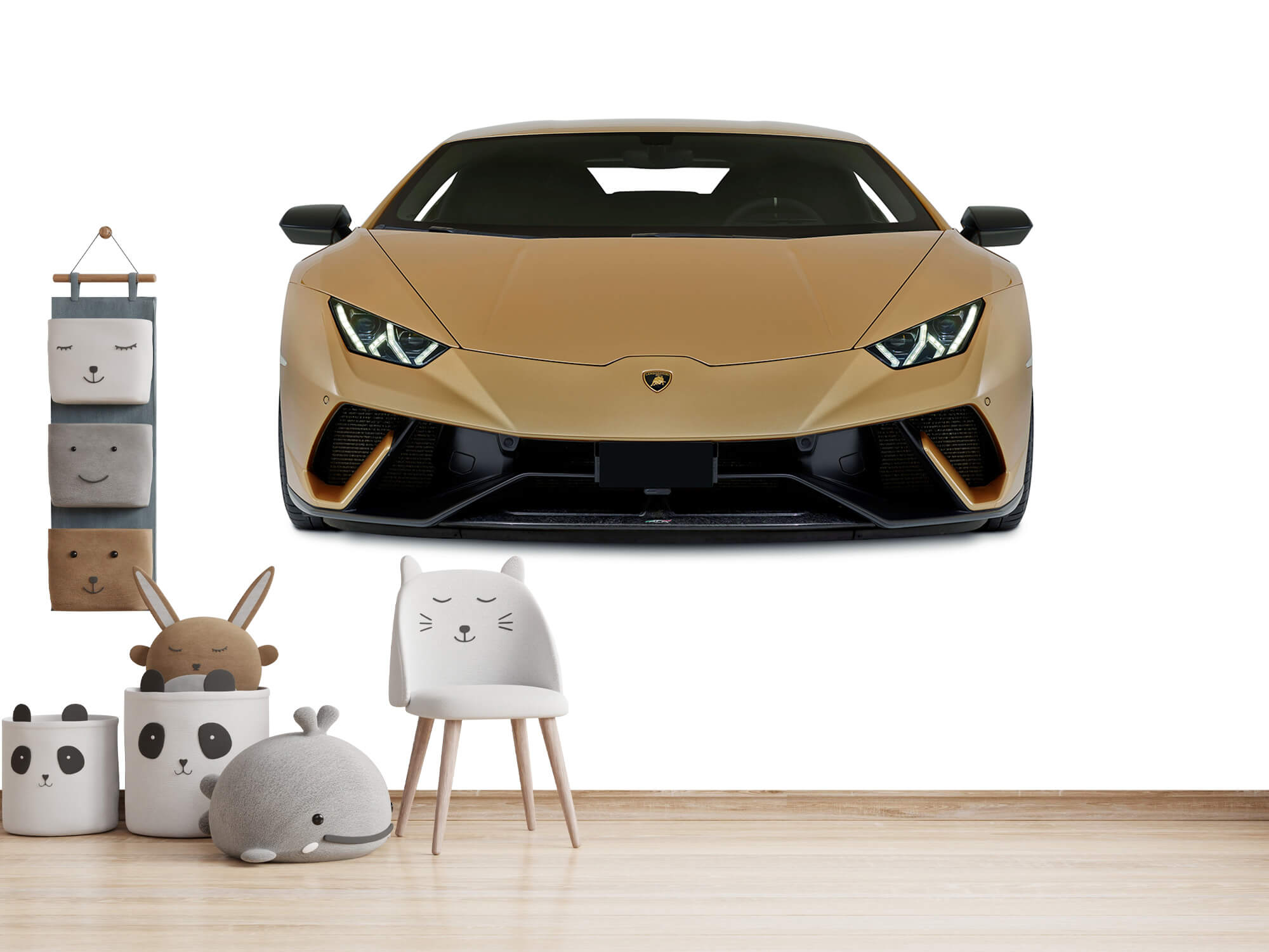 Wallpaper Lamborghini Huracán - Framsida, vit 12