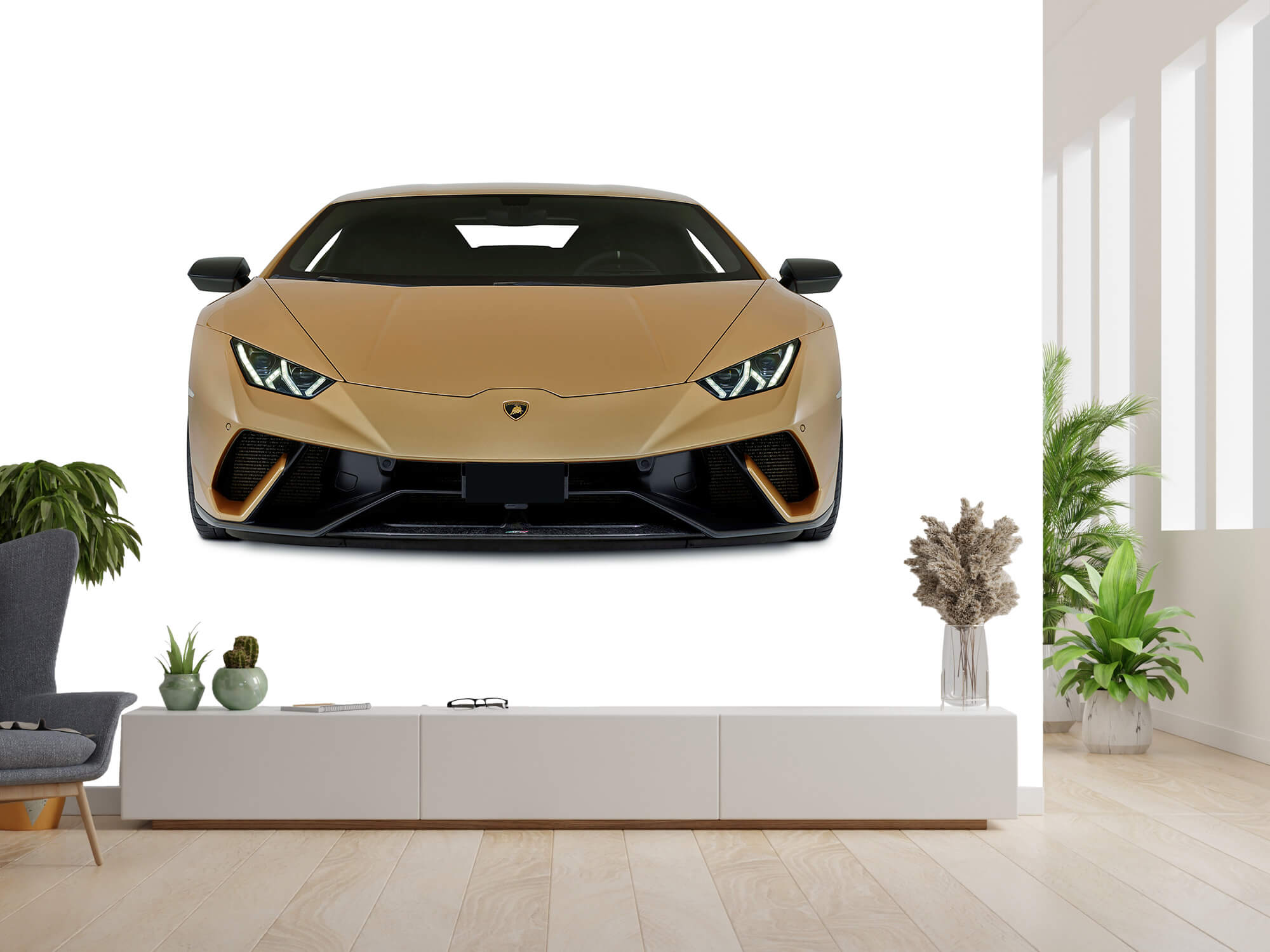 Wallpaper Lamborghini Huracán - Framsida, vit 13