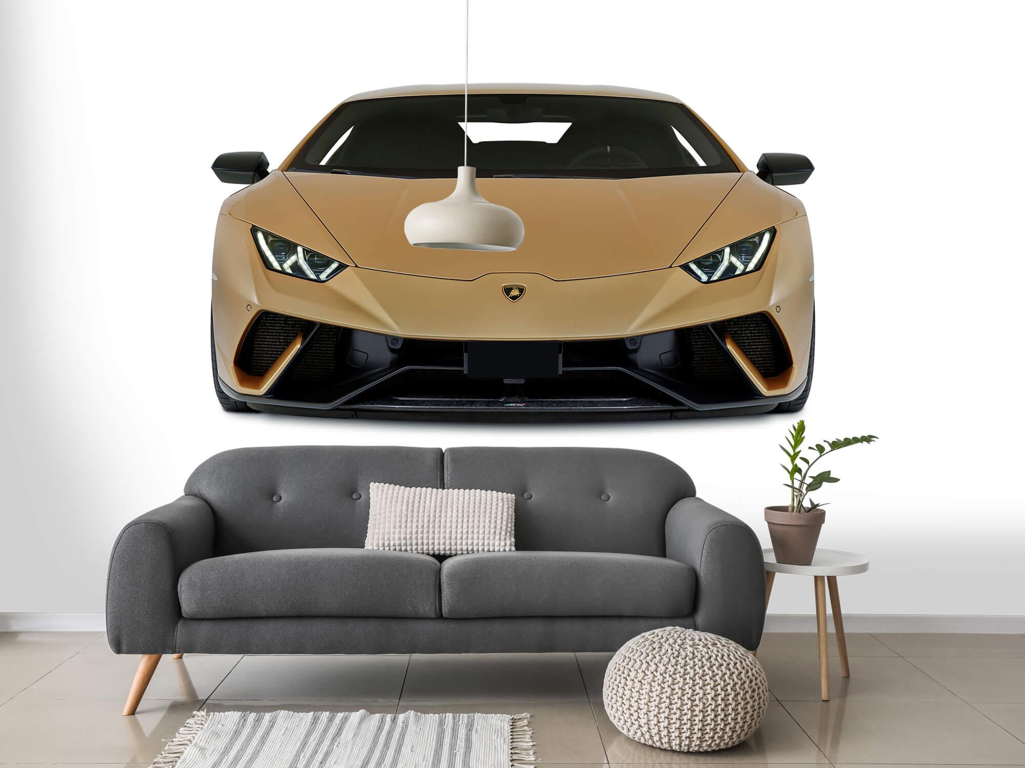 Wallpaper Lamborghini Huracán - Framsida, vit 14