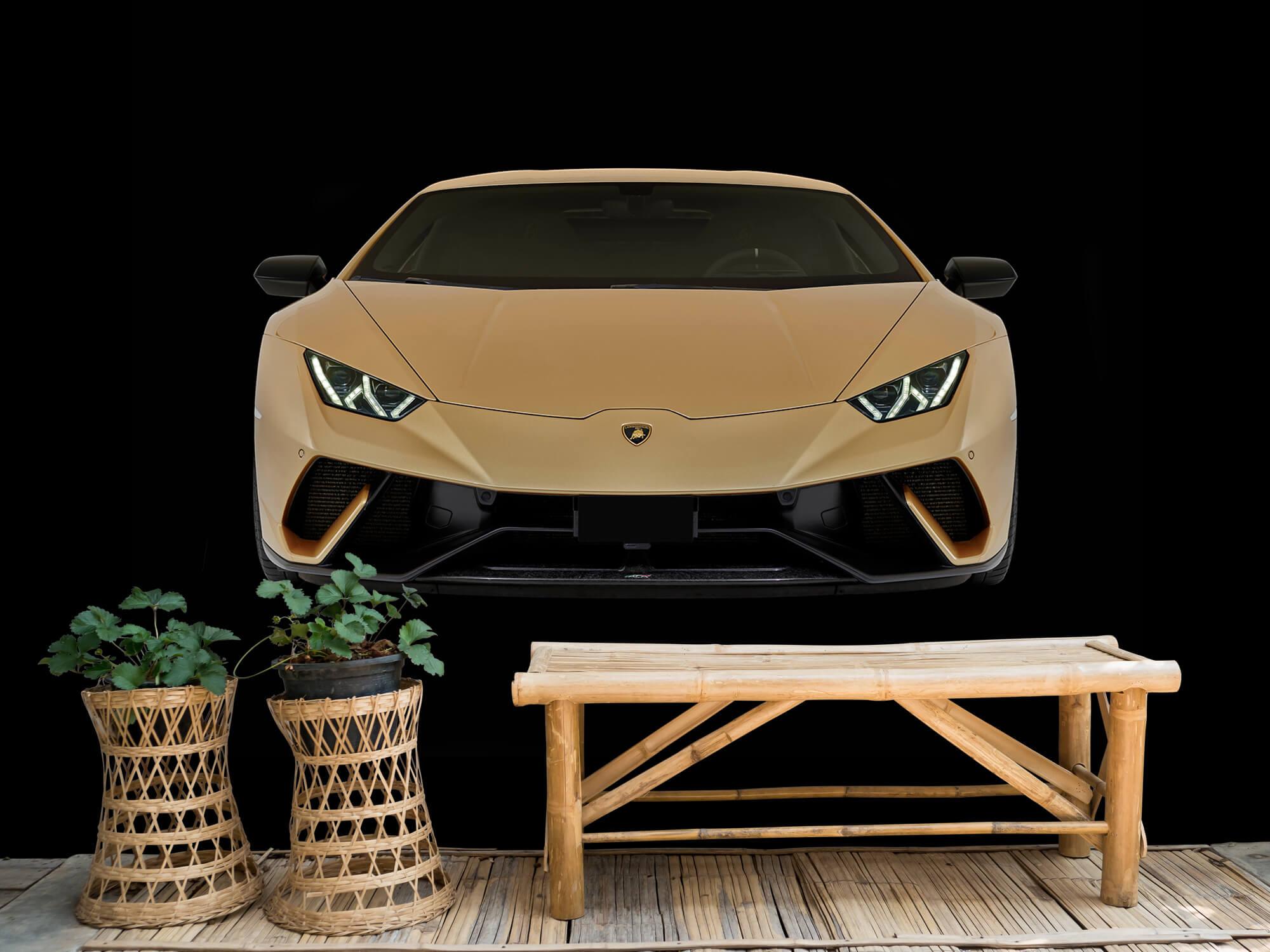 Wallpaper Lamborghini Huracán - Fram, svart 5