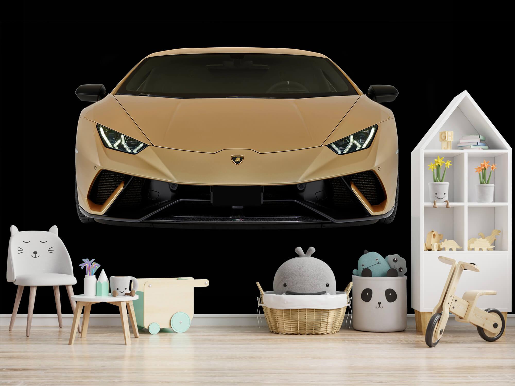 Wallpaper Lamborghini Huracán - Fram, svart 6