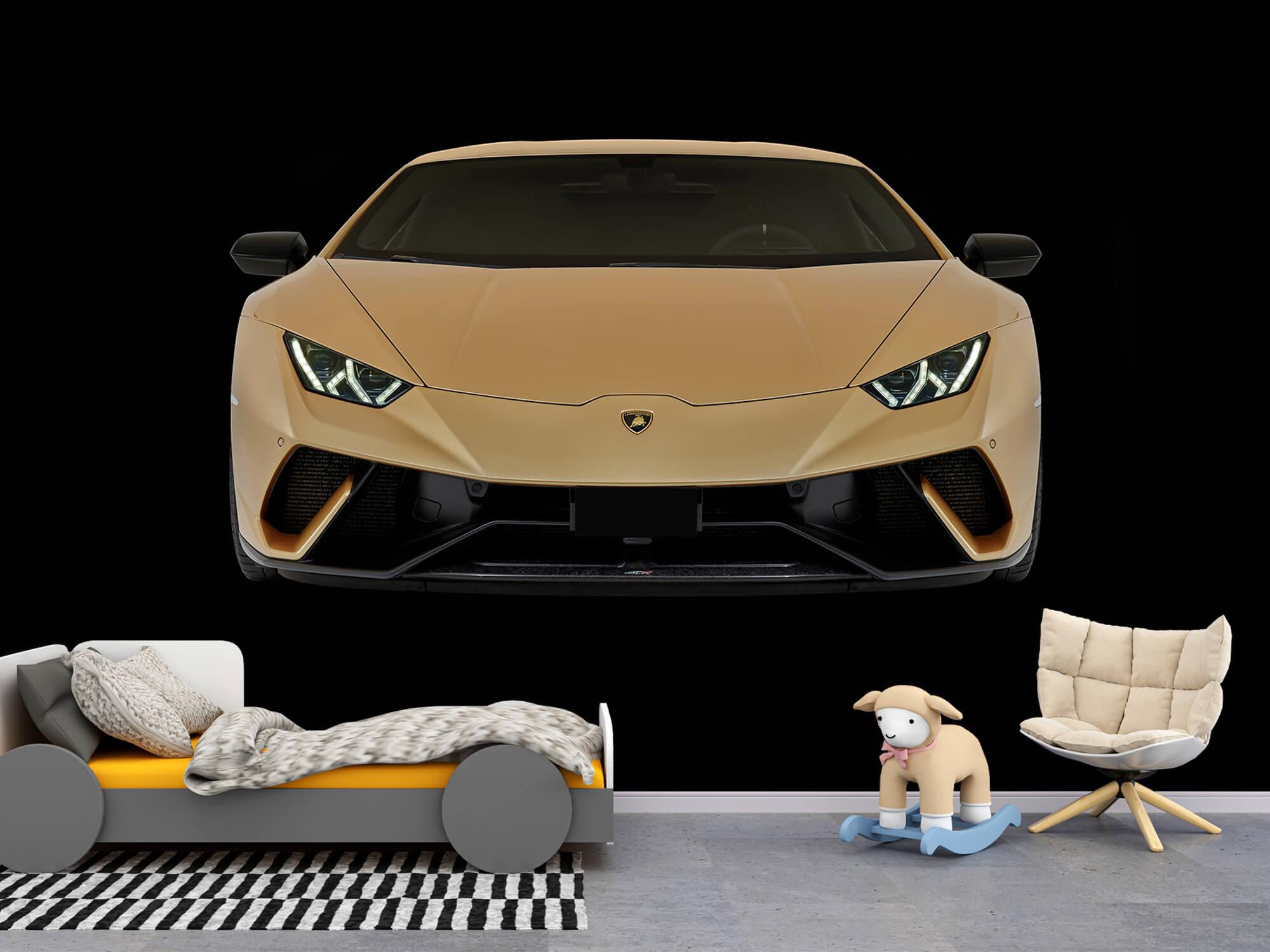 Wallpaper Lamborghini Huracán - Fram, svart 9