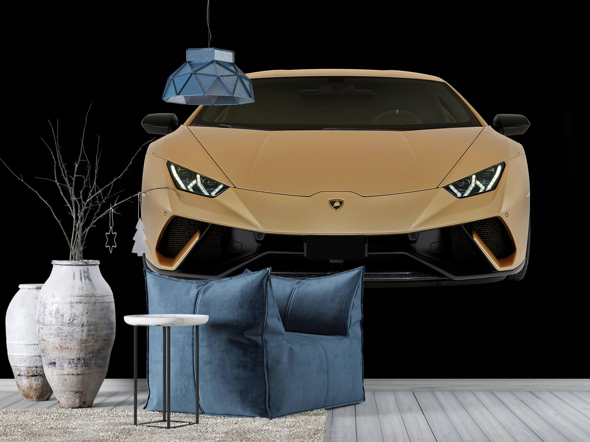 Wallpaper Lamborghini Huracán - Fram, svart 10