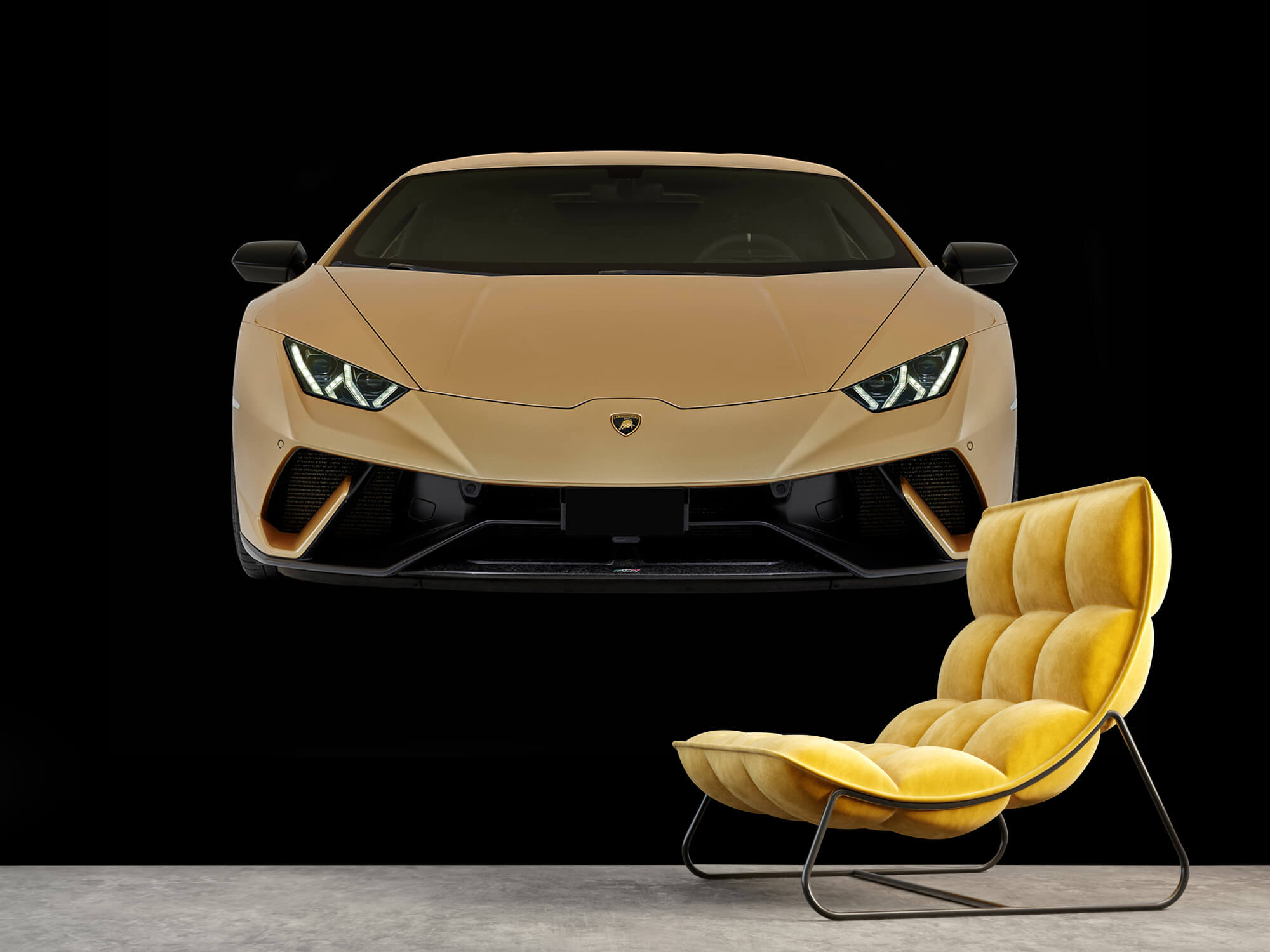 Wallpaper Lamborghini Huracán - Fram, svart 4
