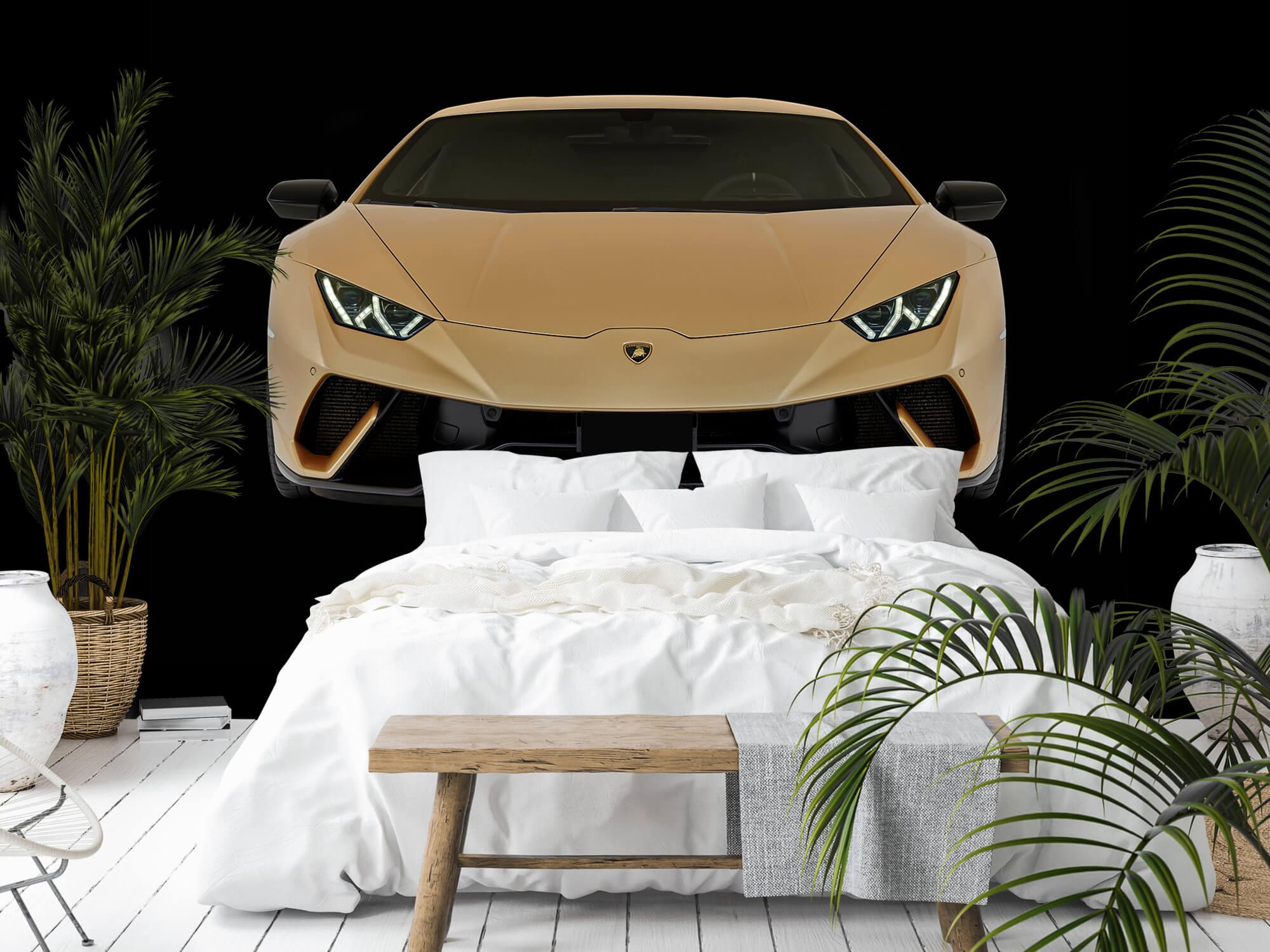 Wallpaper Lamborghini Huracán - Fram, svart 11