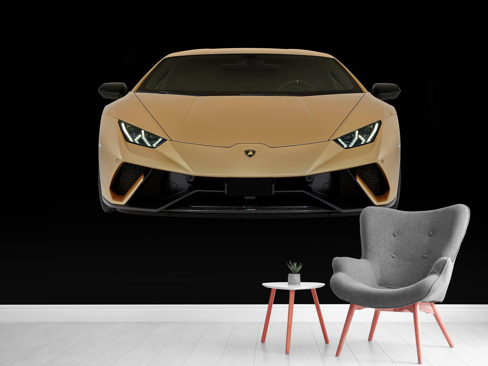 Wallpaper Lamborghini Huracán - Fram, svart 12