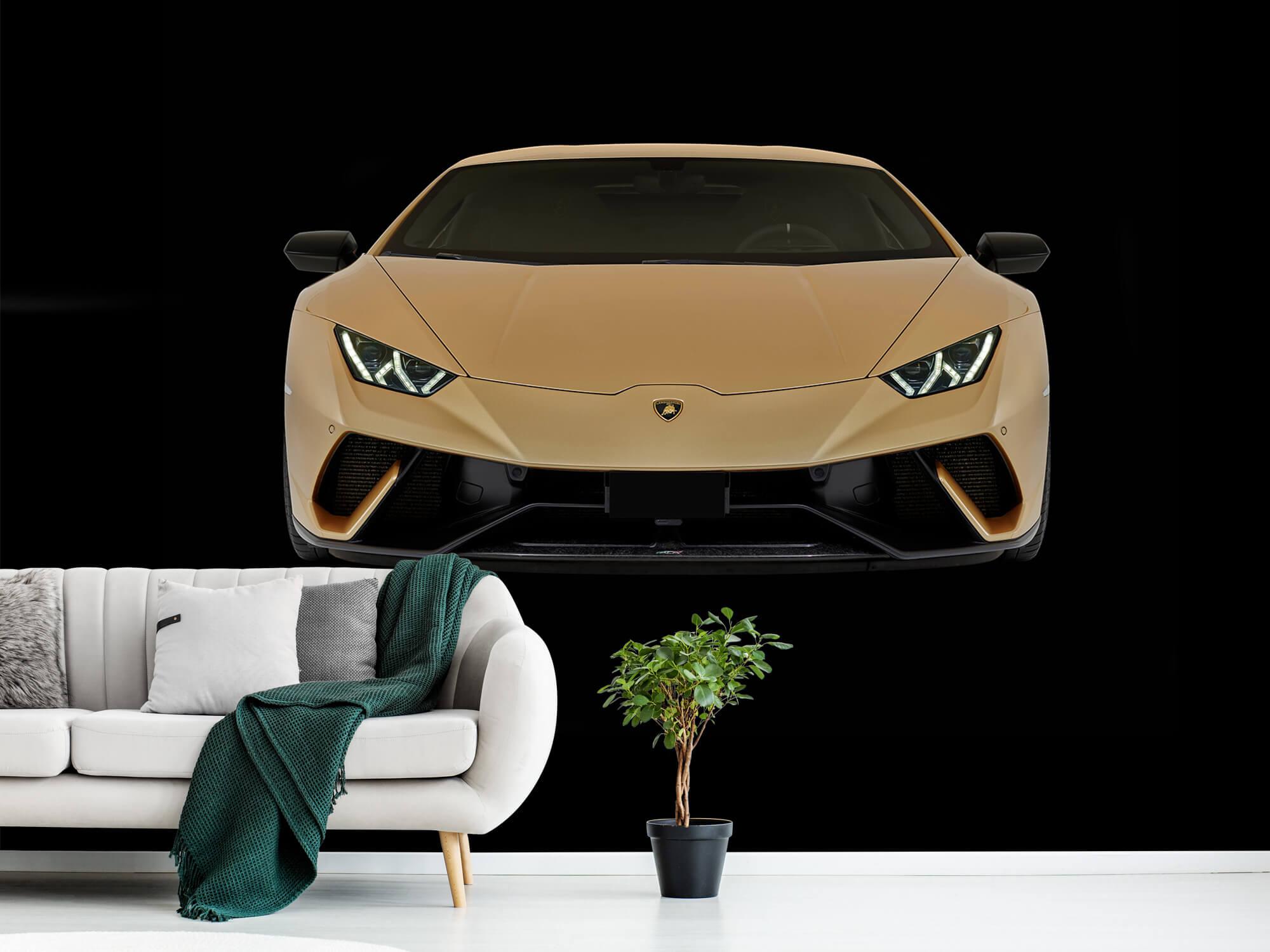 Wallpaper Lamborghini Huracán - Fram, svart 1