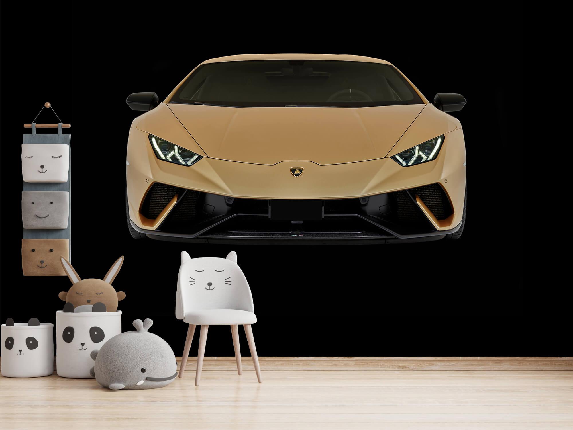 Wallpaper Lamborghini Huracán - Fram, svart 8