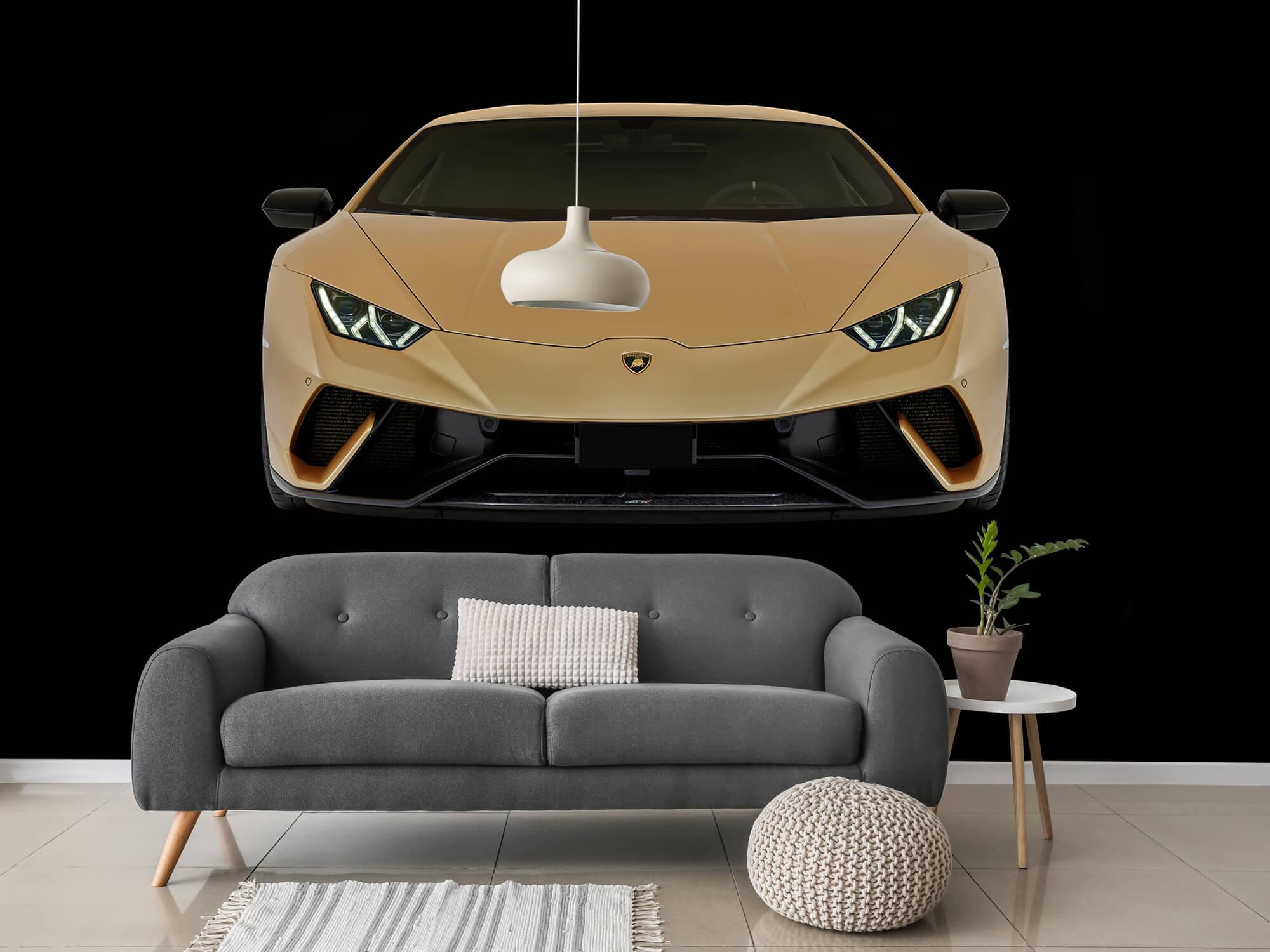 Wallpaper Lamborghini Huracán - Fram, svart 3