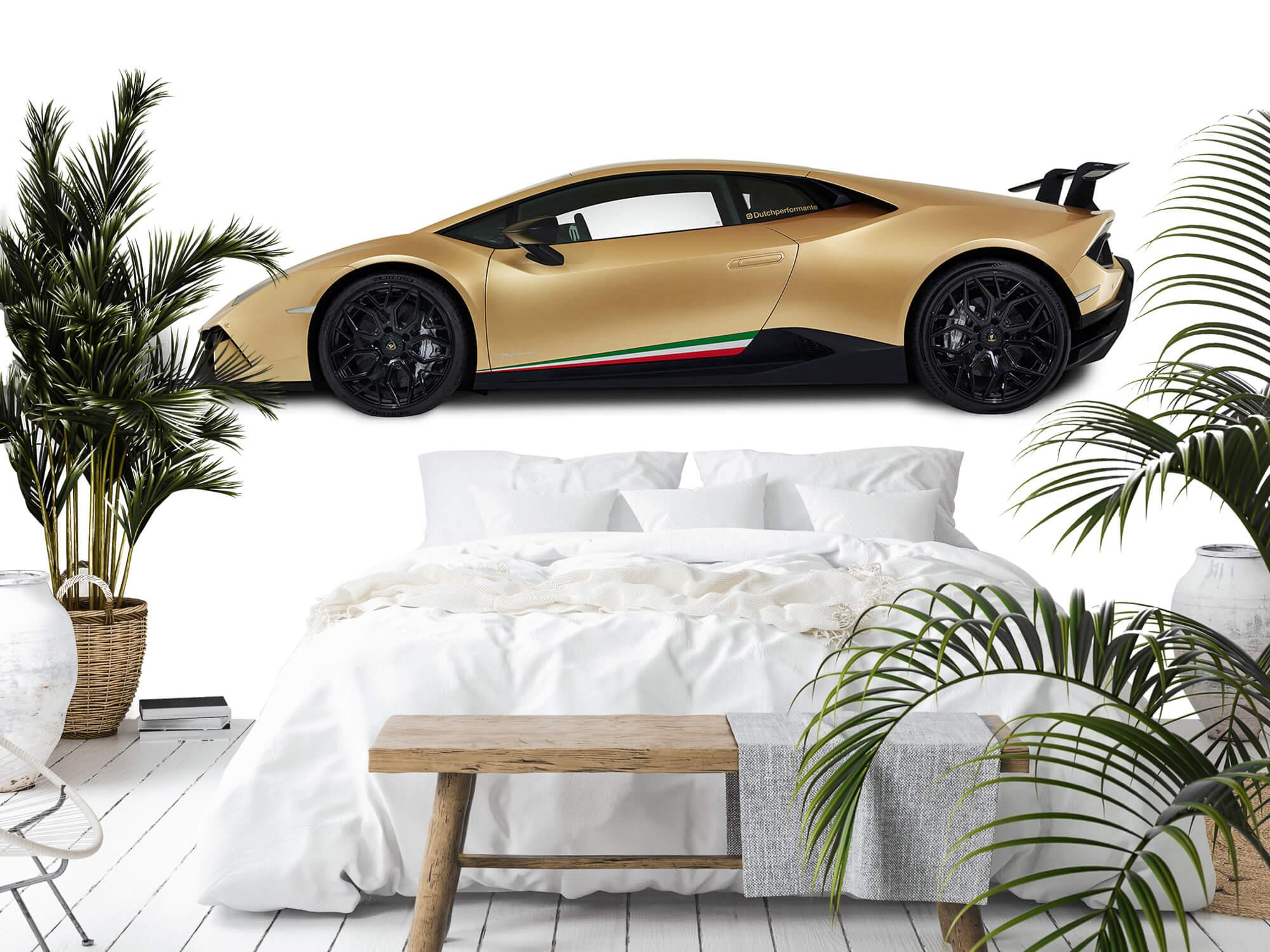 Wallpaper Lamborghini Huracán - Sida, vit 3