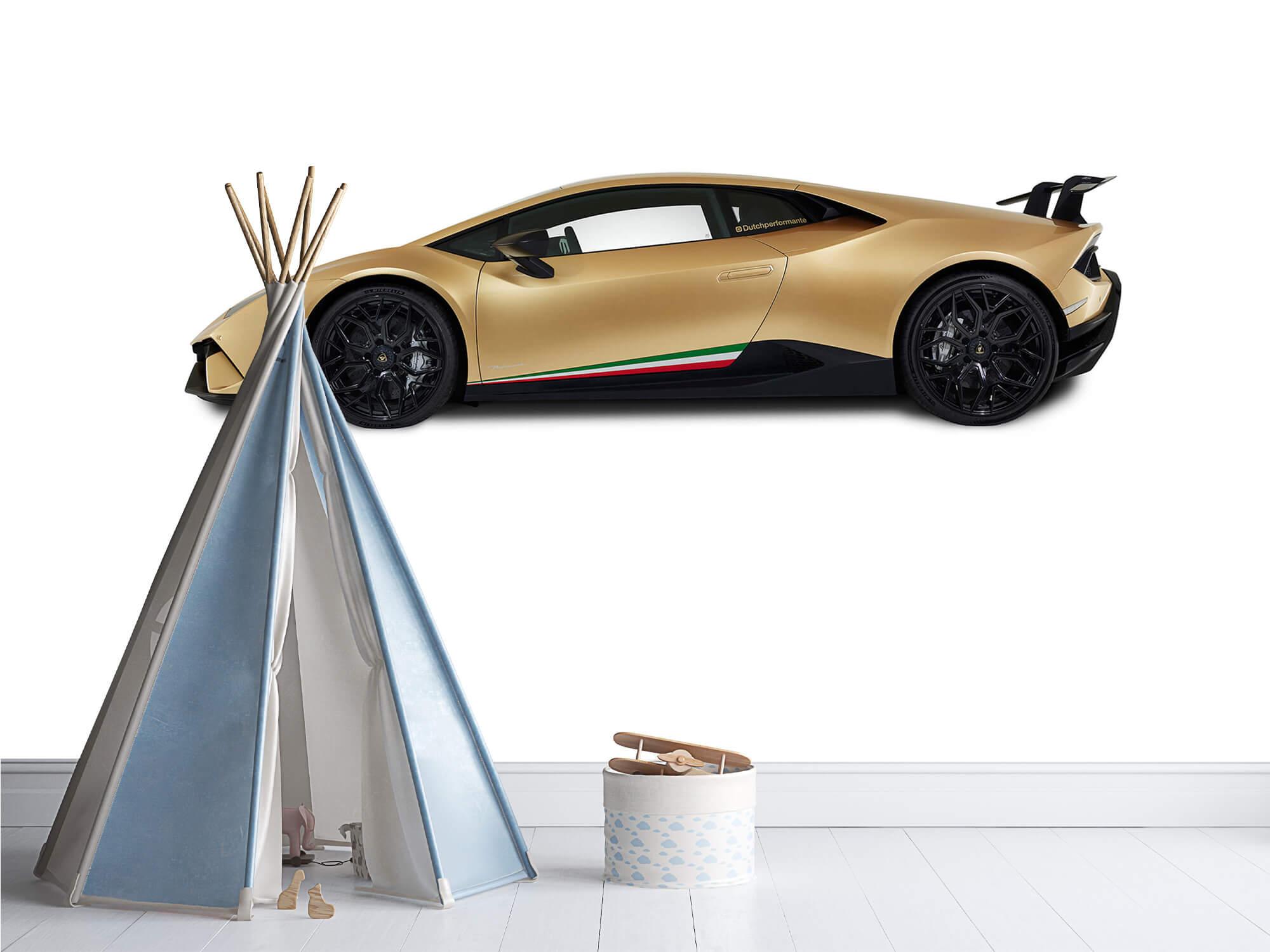 Wallpaper Lamborghini Huracán - Sida, vit 4