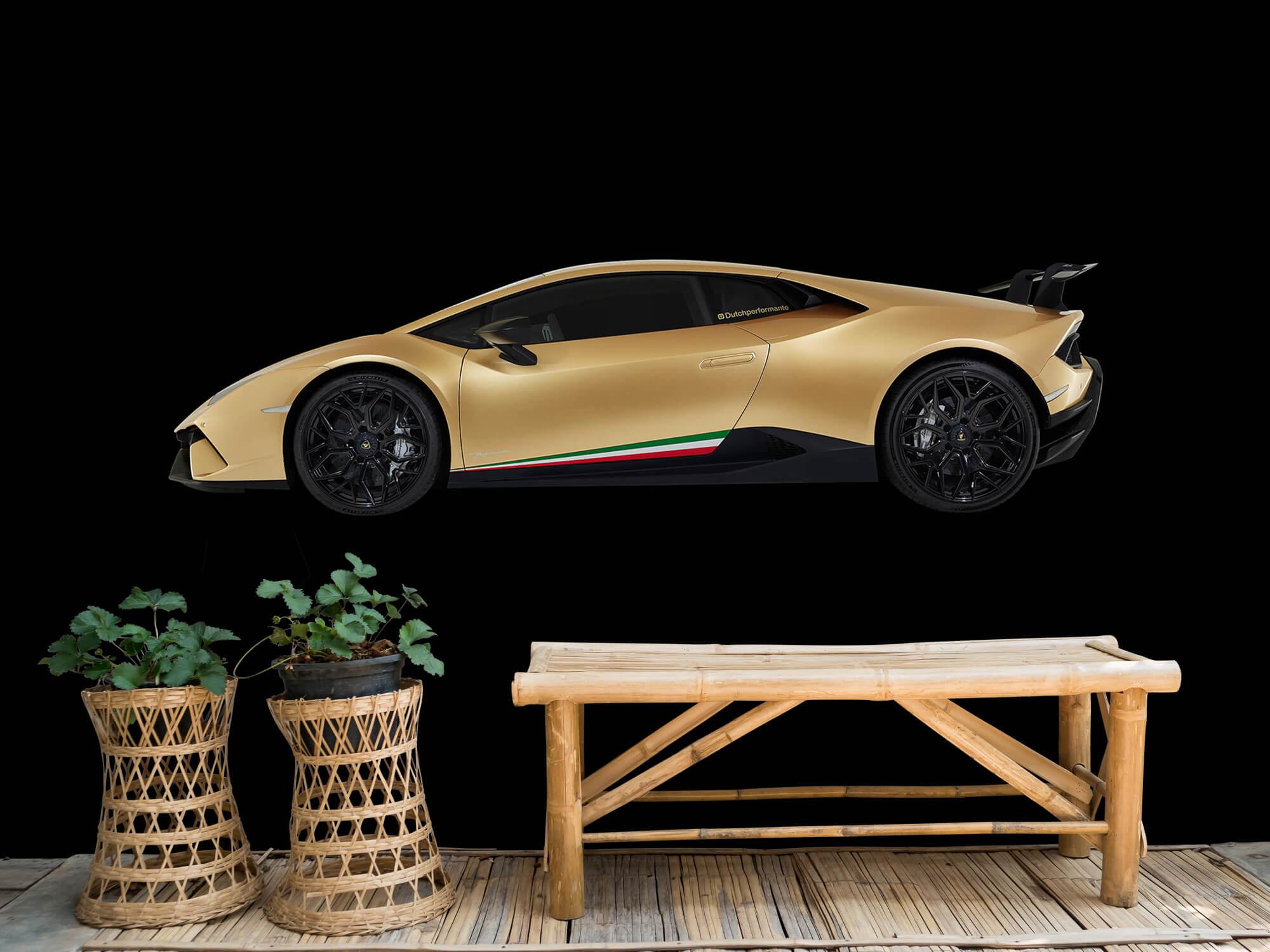 Wallpaper Lamborghini Huracán - Sida, svart 10