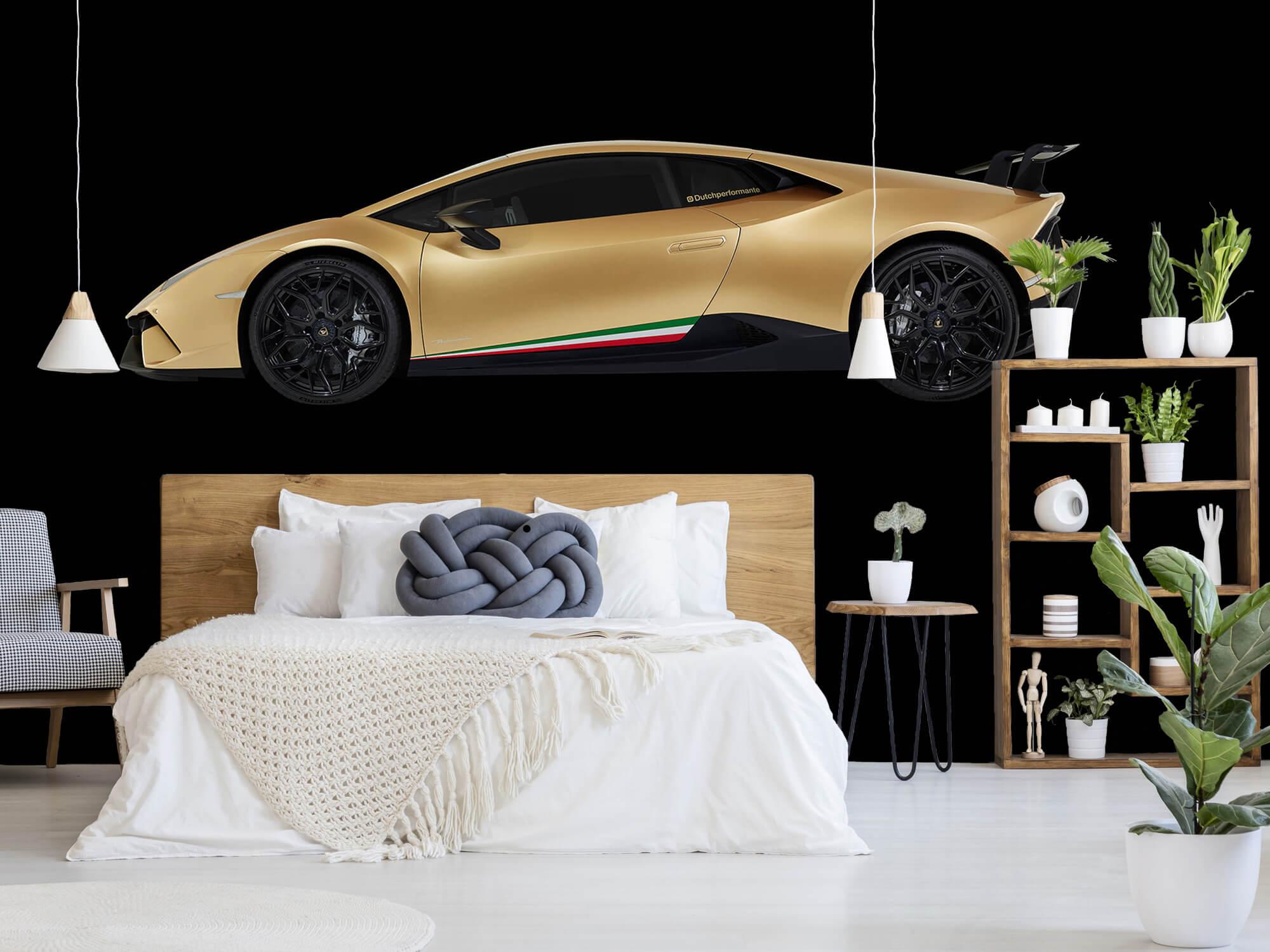 Wallpaper Lamborghini Huracán - Sida, svart 5