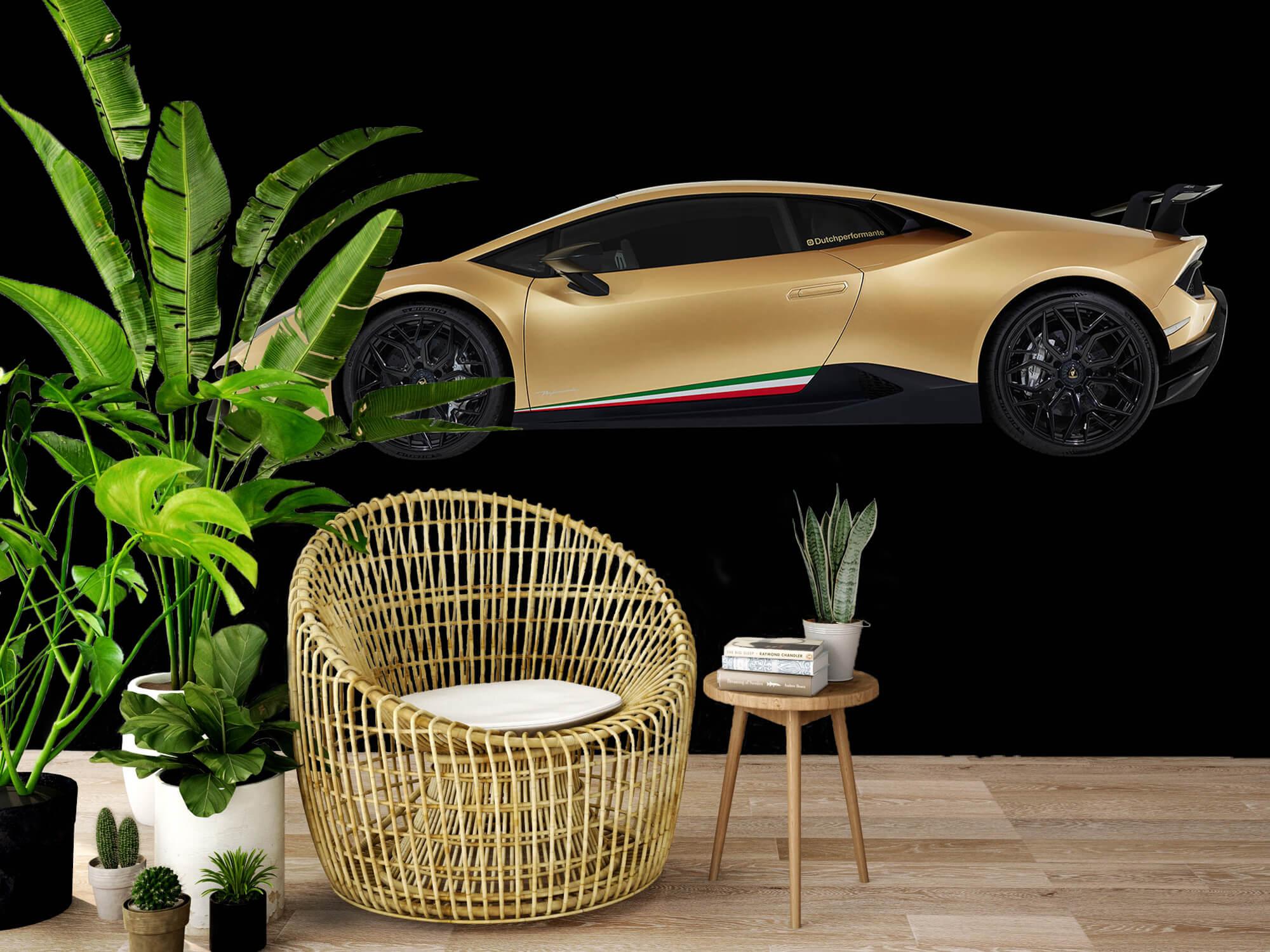 Wallpaper Lamborghini Huracán - Sida, svart 7