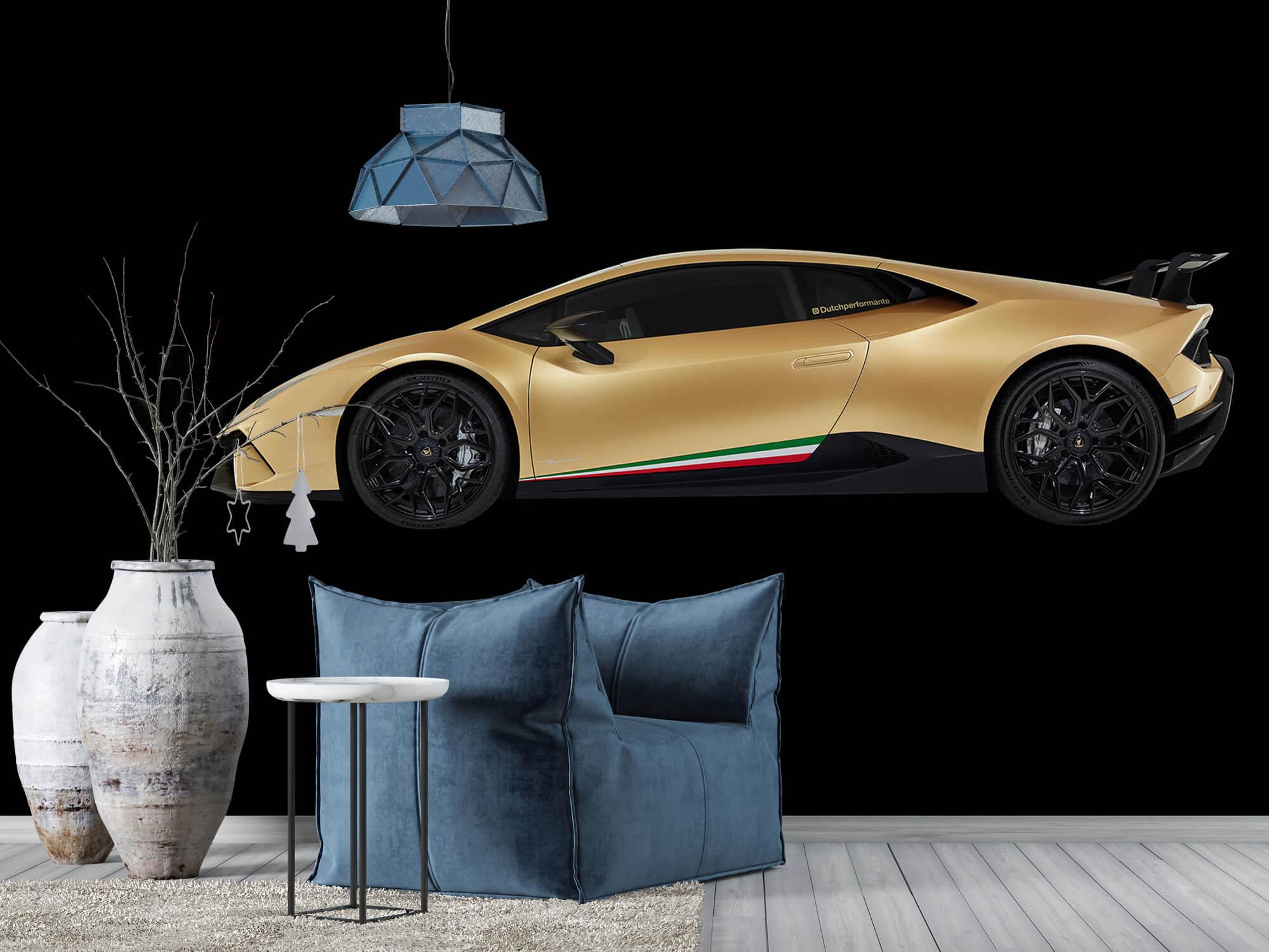 Wallpaper Lamborghini Huracán - Sida, svart 9