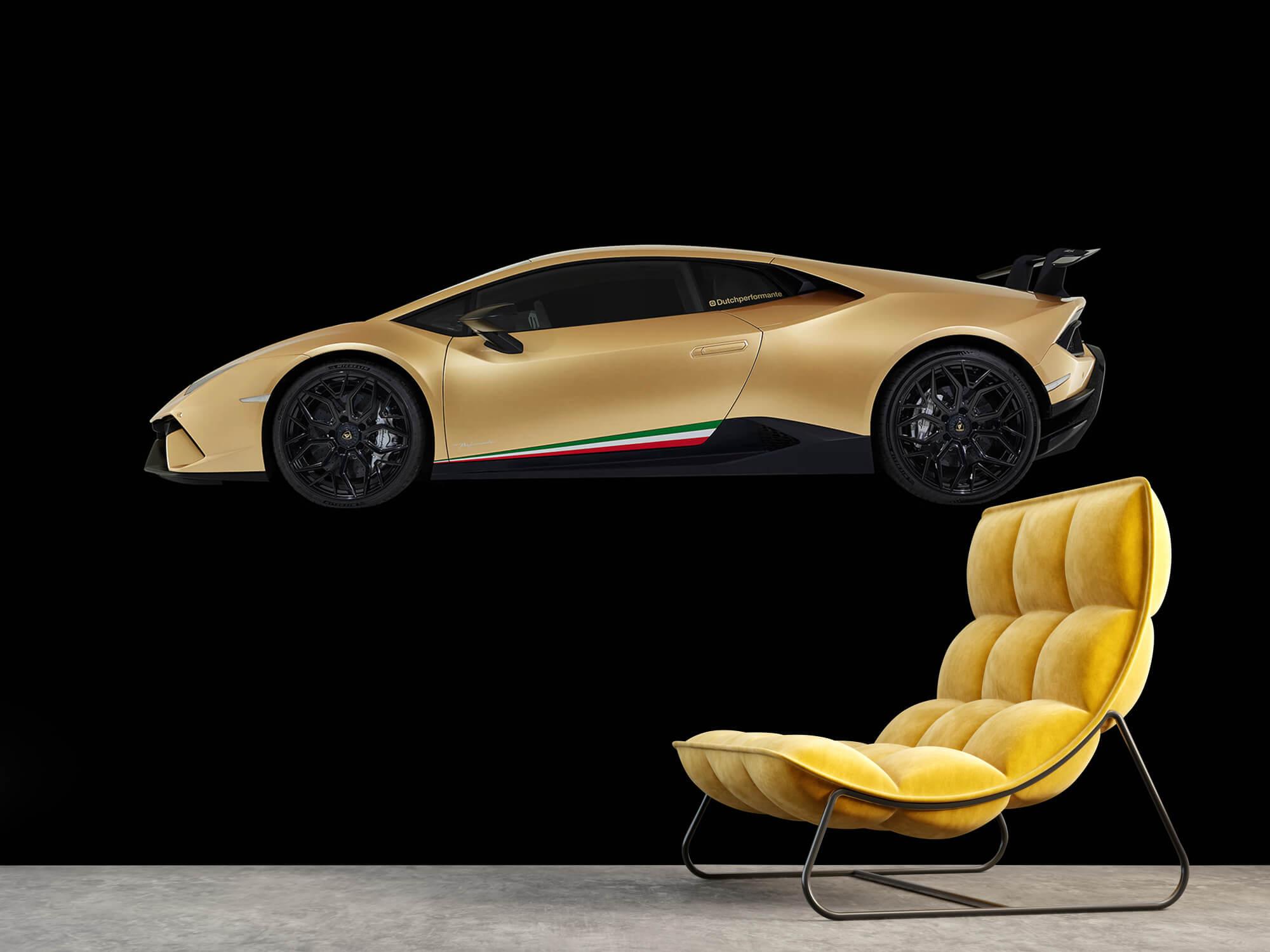 Wallpaper Lamborghini Huracán - Sida, svart 3