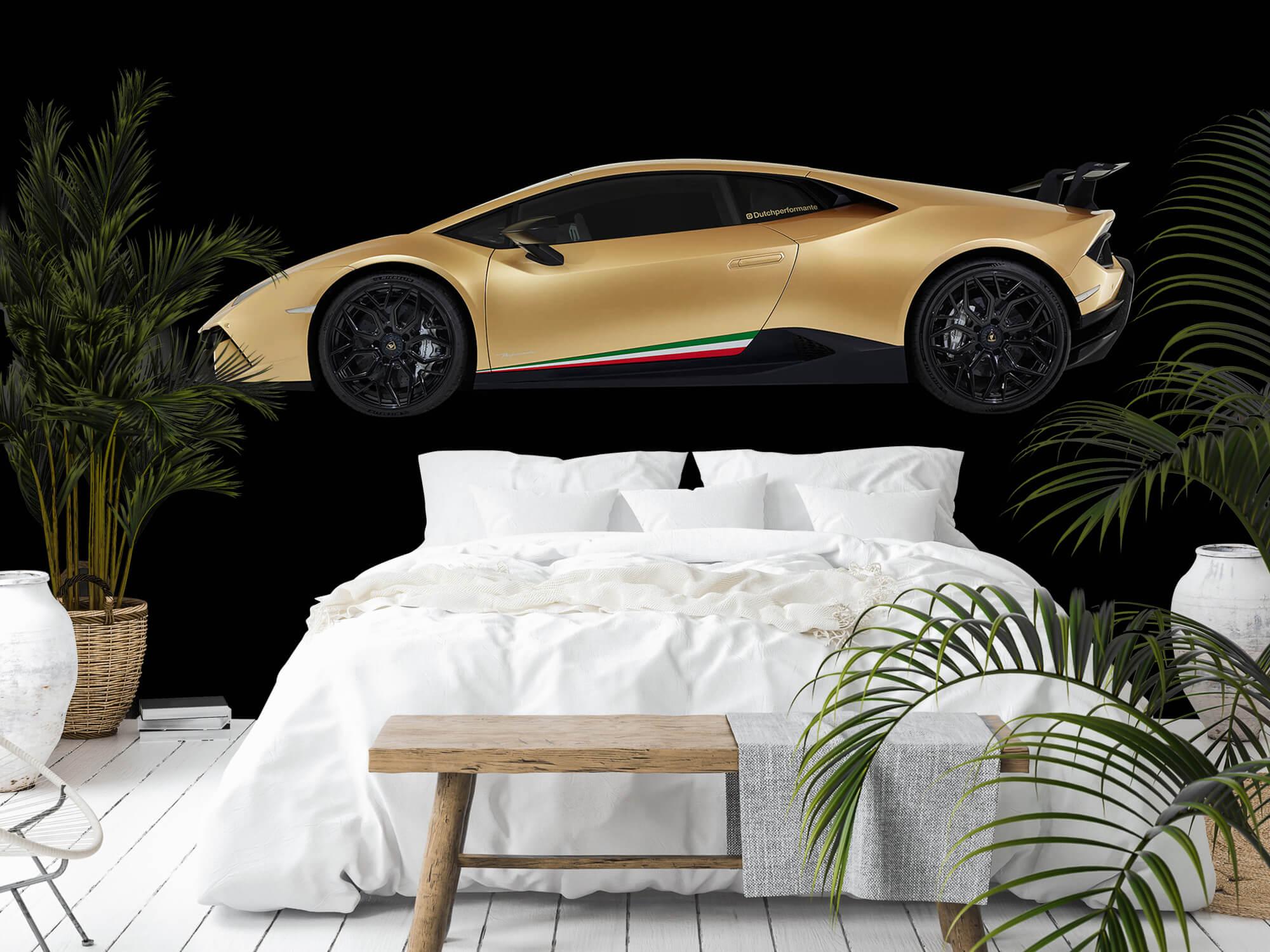 Wallpaper Lamborghini Huracán - Sida, svart 4