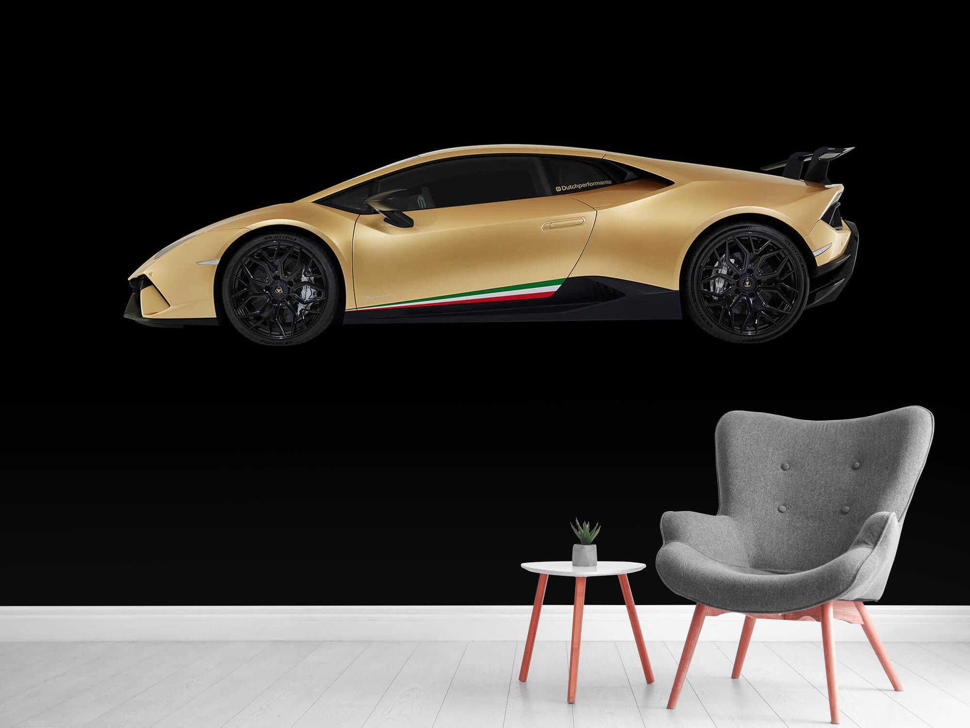 Wallpaper Lamborghini Huracán - Sida, svart 12
