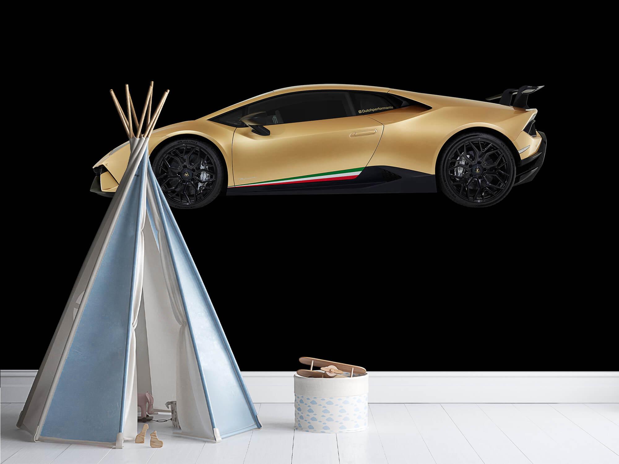 Wallpaper Lamborghini Huracán - Sida, svart 11