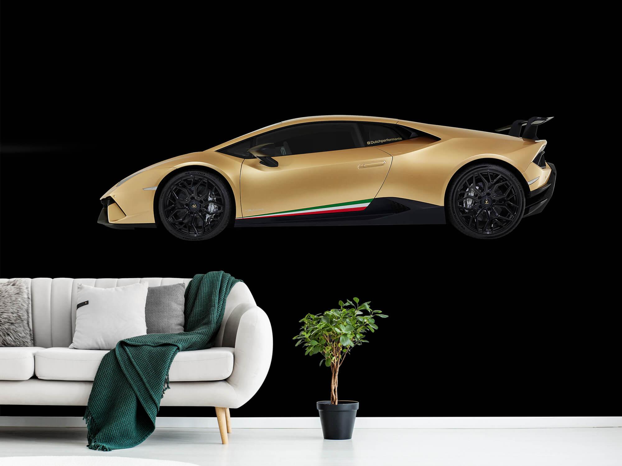 Wallpaper Lamborghini Huracán - Sida, svart 13