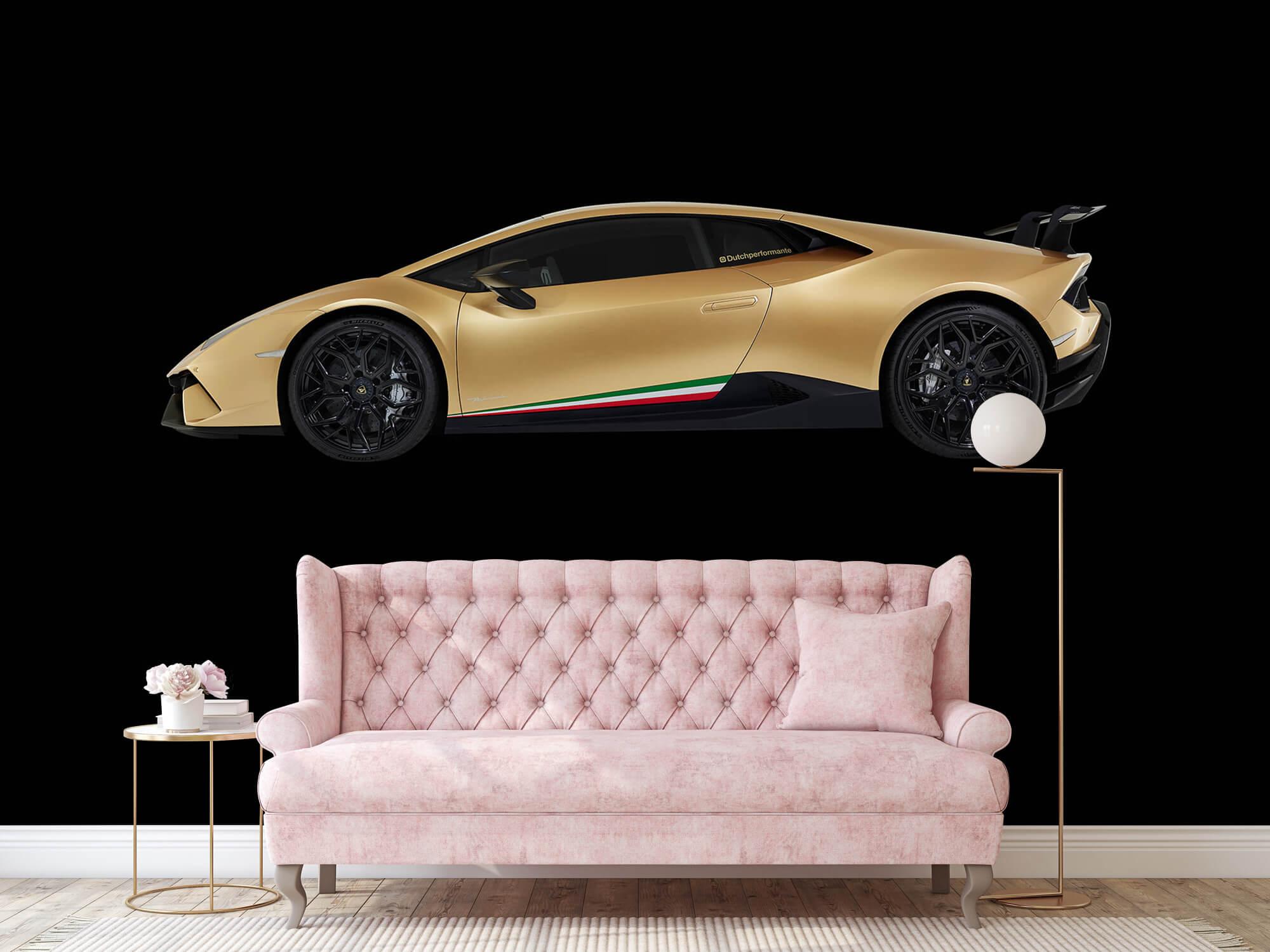 Wallpaper Lamborghini Huracán - Sida, svart 14