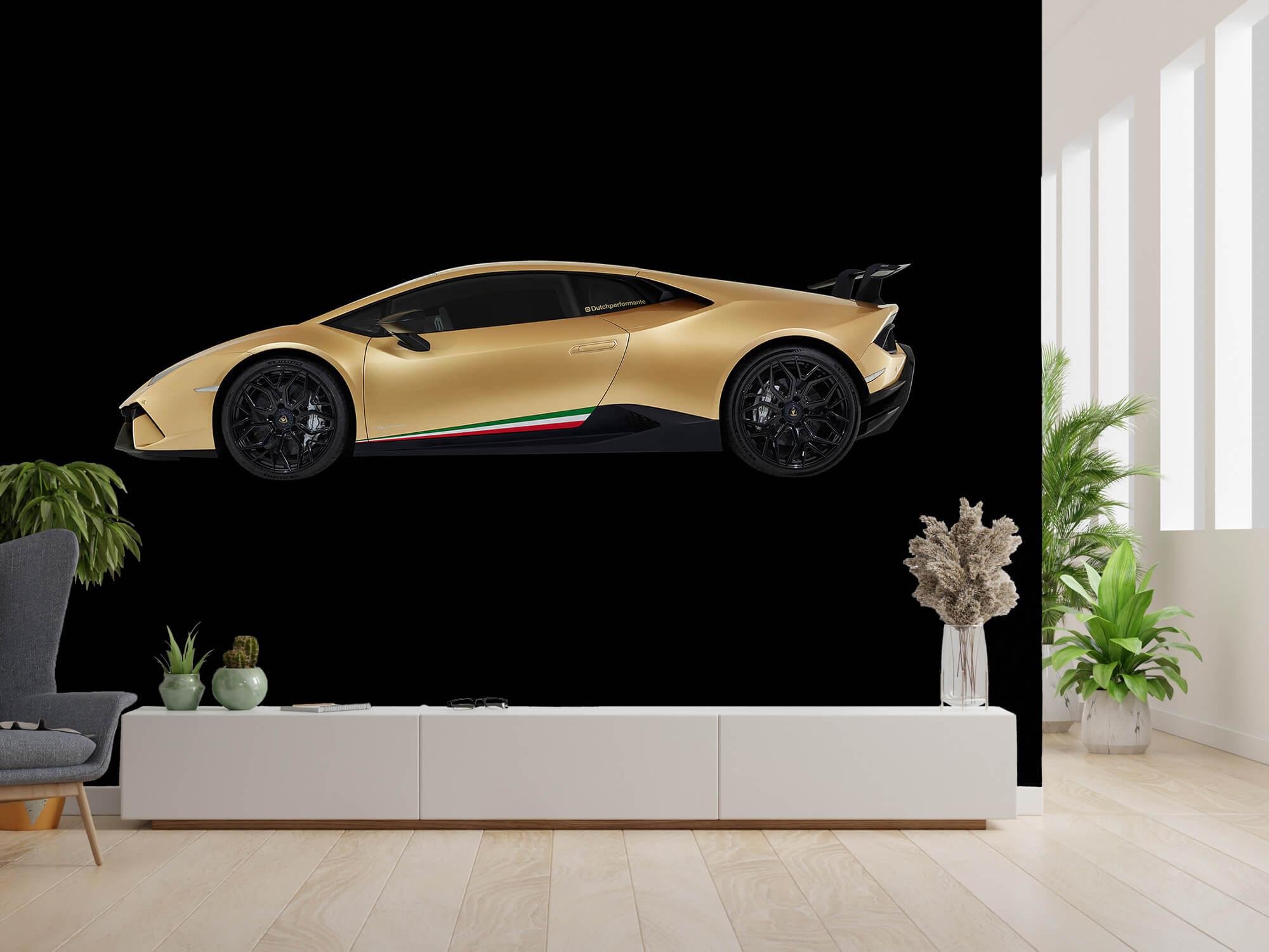 Wallpaper Lamborghini Huracán - Sida, svart 1