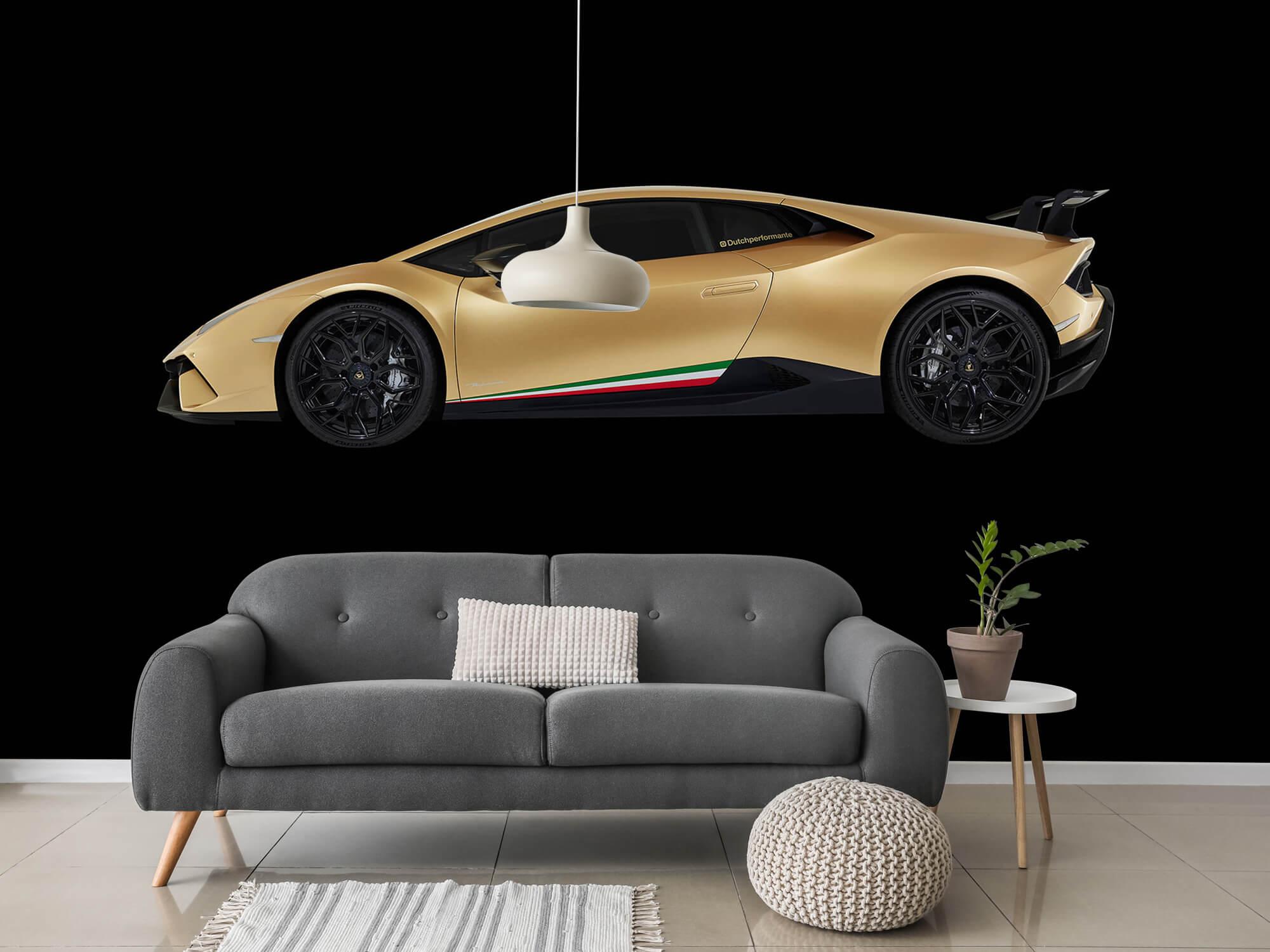 Wallpaper Lamborghini Huracán - Sida, svart 15