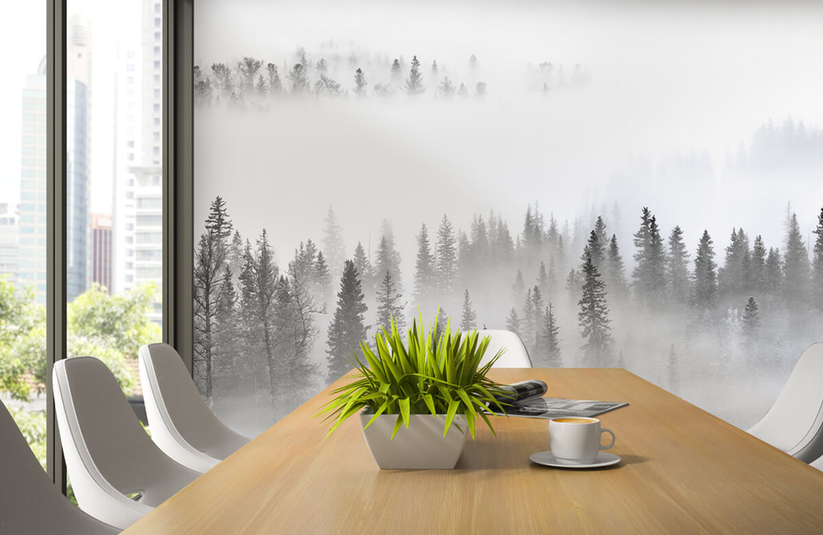 Landschap Foggy Forest 5