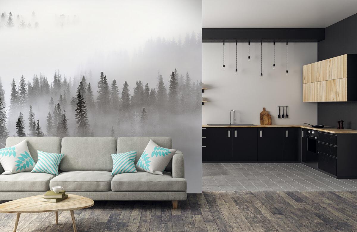 Landschap Foggy Forest 7