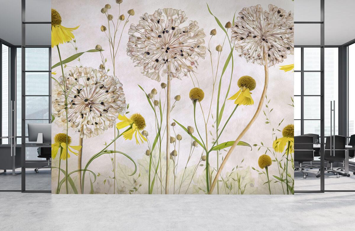 Stilleven Alliums and heleniums 6