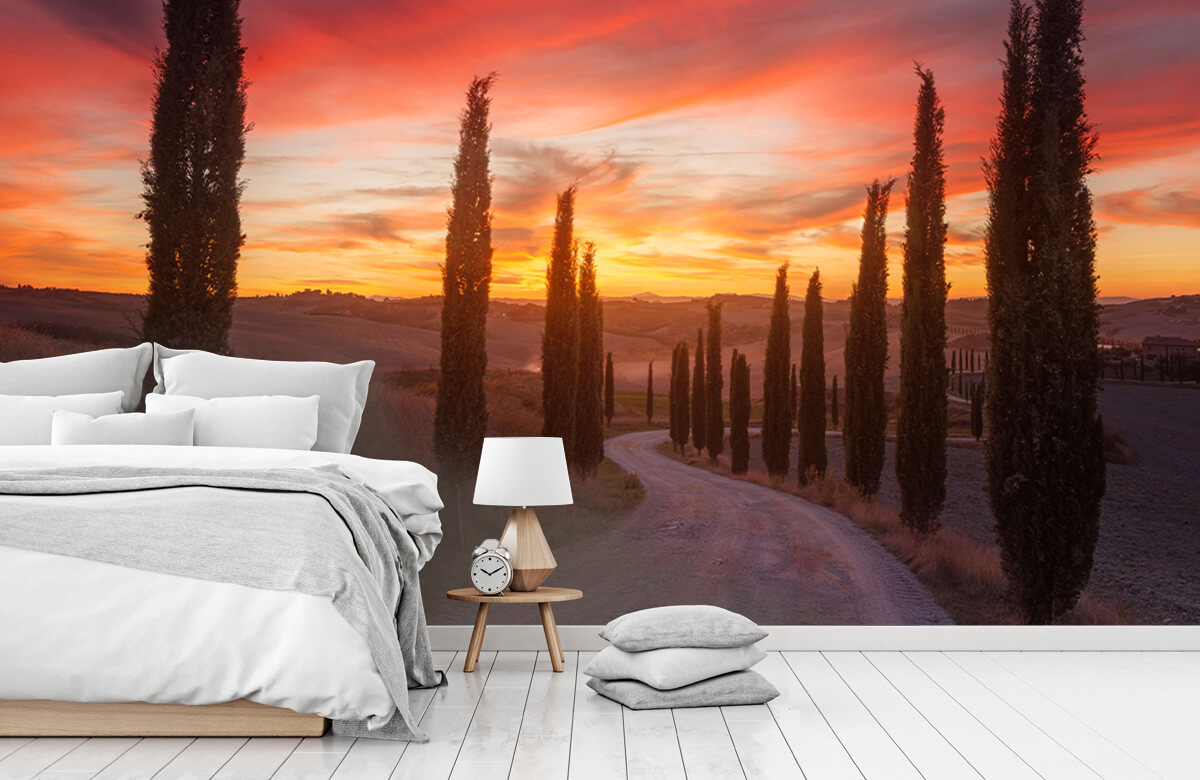 Landscape Tuscany sunset 2