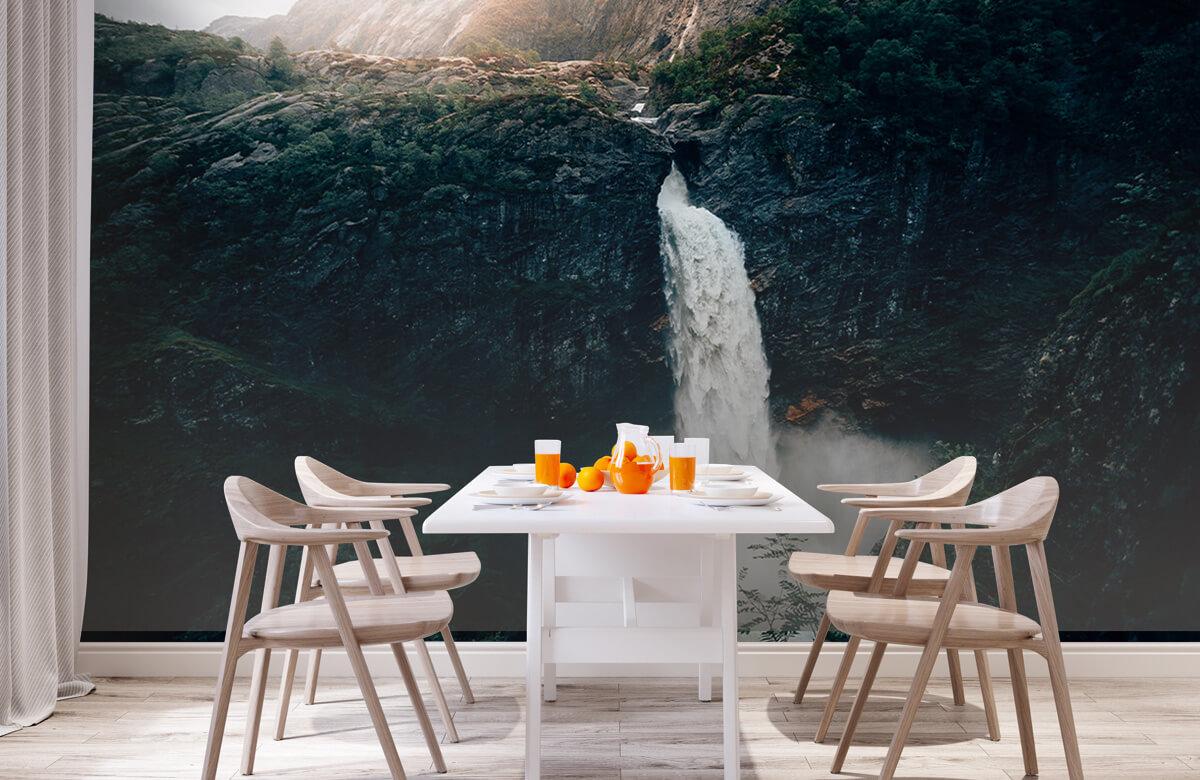Wallpaper Imponerande vattenfall 4