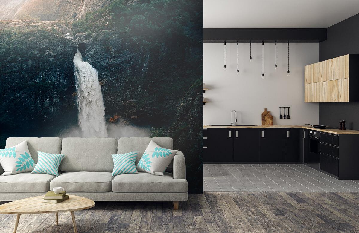 Wallpaper Imponerande vattenfall 9
