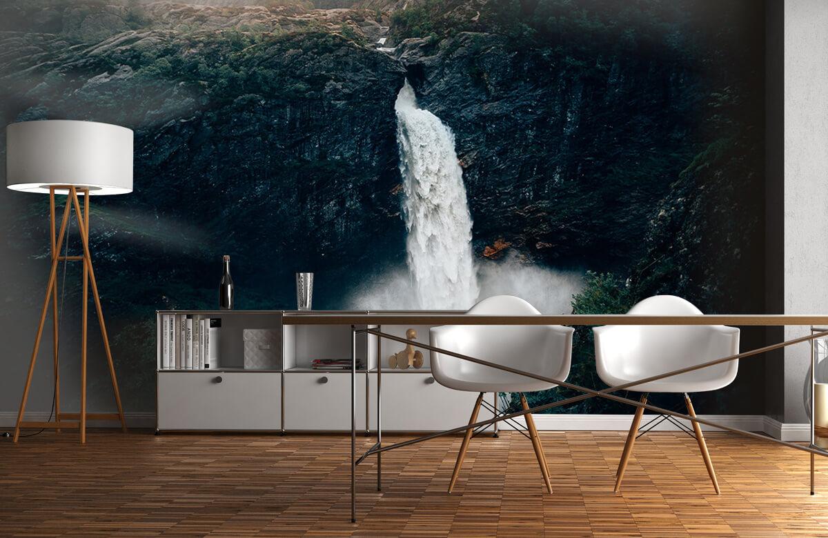 Wallpaper Imponerande vattenfall 1