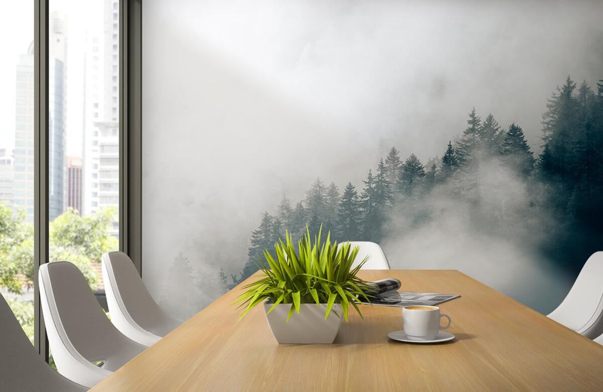 Wallpaper Dimmig alpin morgon 4