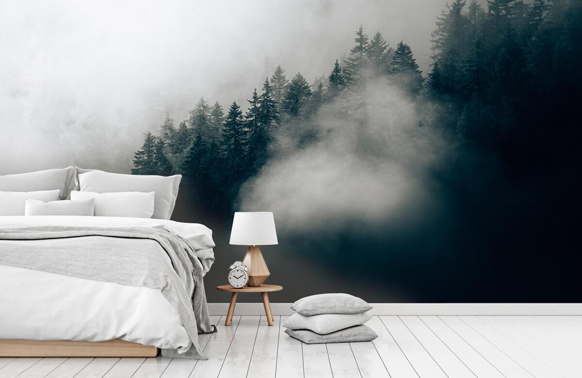 Wallpaper Dimmig alpin morgon 1