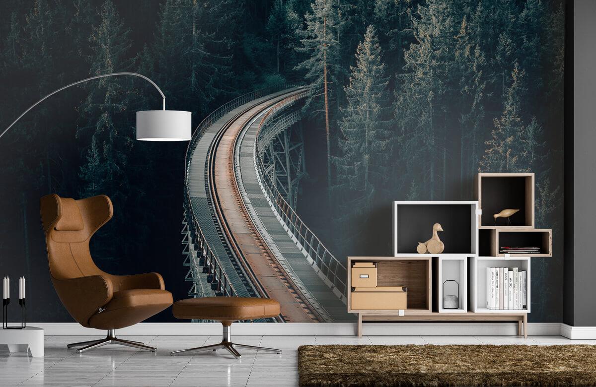 Wallpaper En gammal övergiven järnväg 7