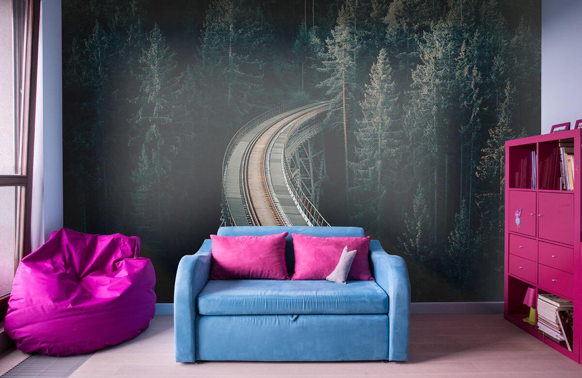 Wallpaper En gammal övergiven järnväg 4