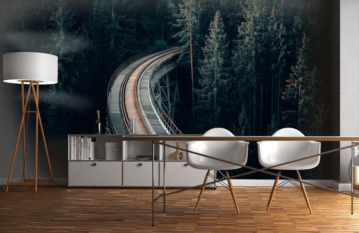 Wallpaper En gammal övergiven järnväg 1