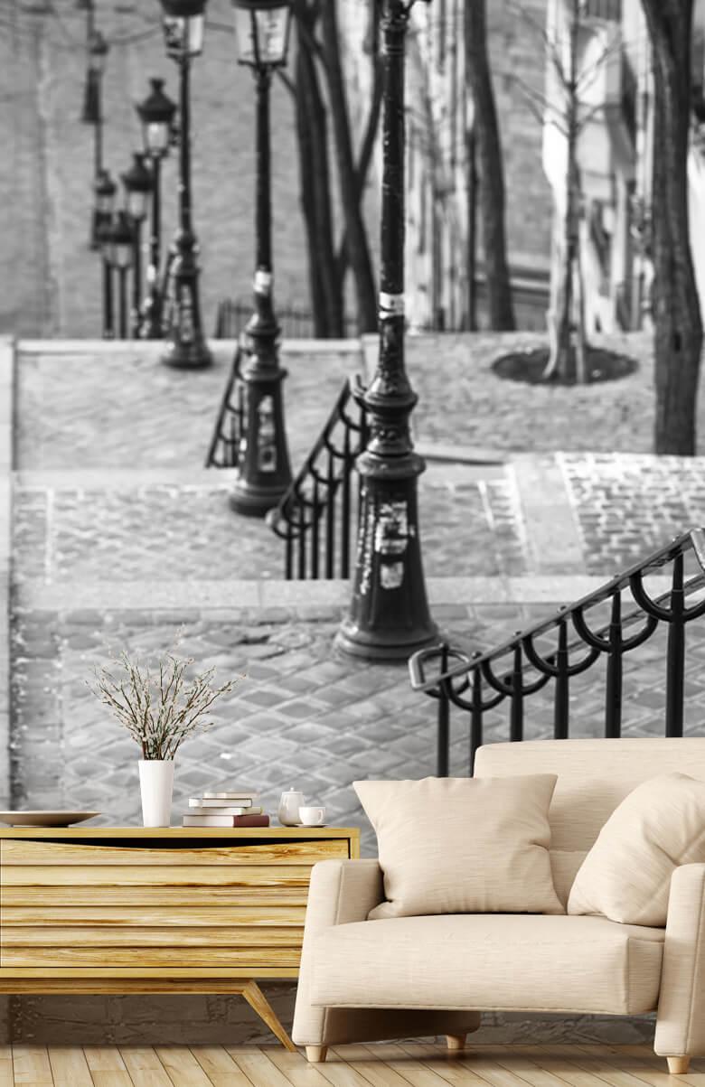 De berömda trapporna i Montmartre 1