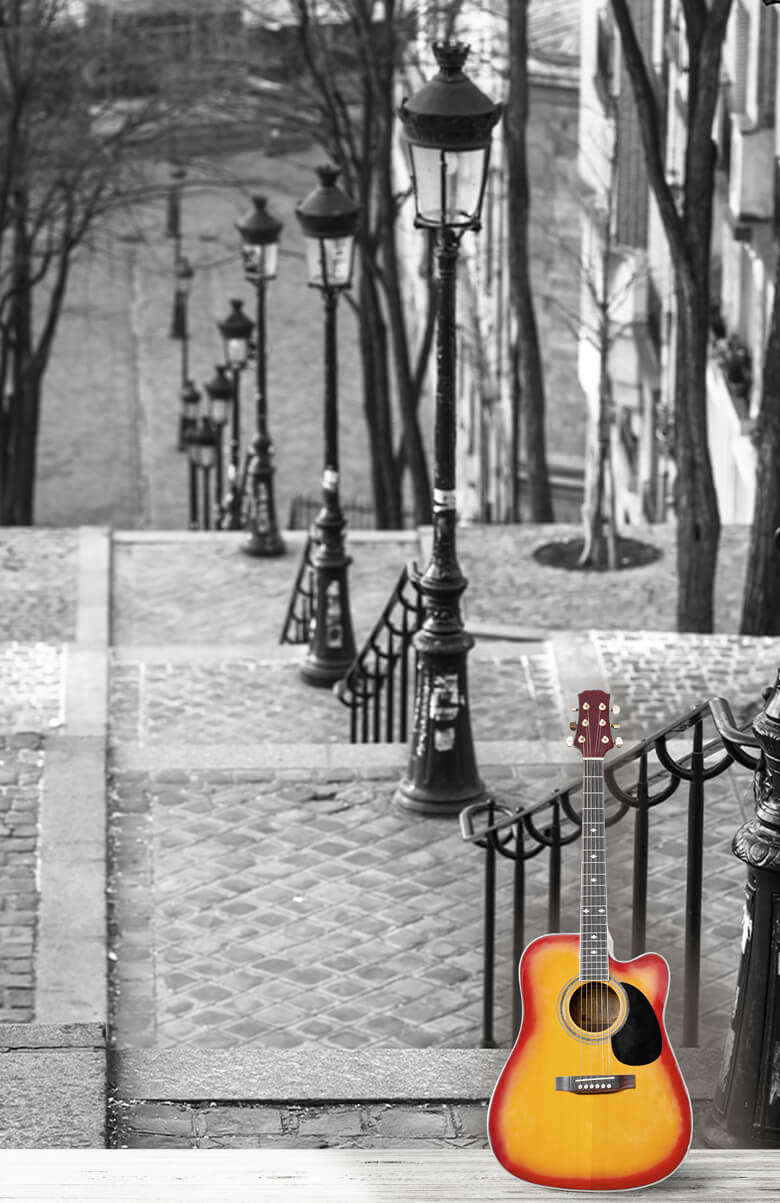De berömda trapporna i Montmartre 3