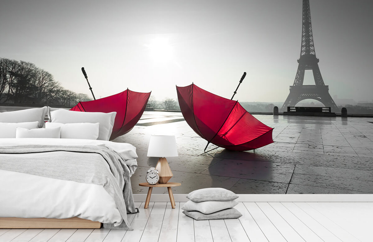 Röda paraplyer 3