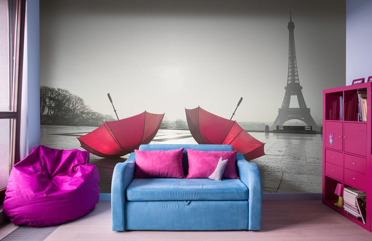 Röda paraplyer 5