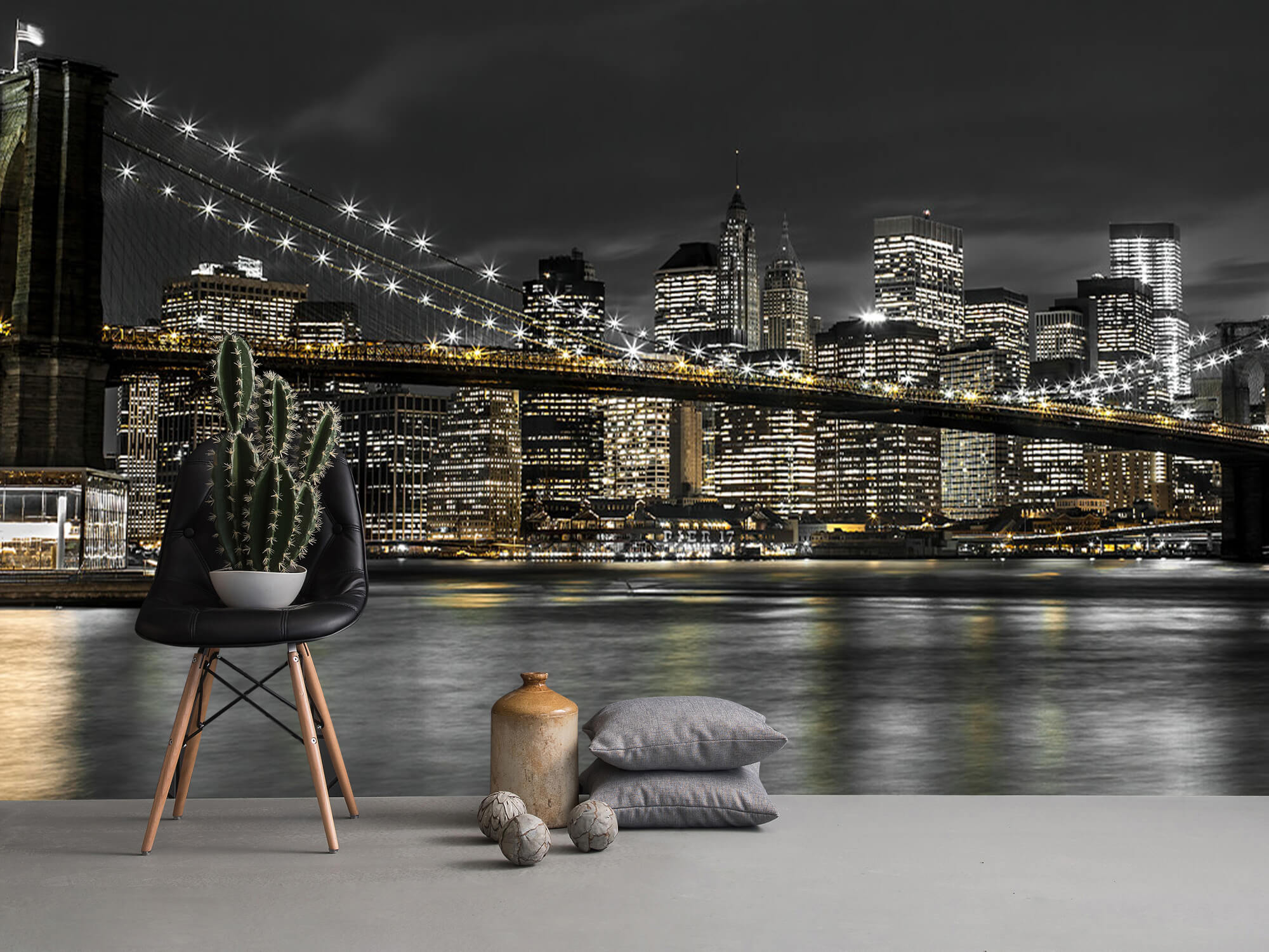 Brooklyn Bridge på natten 15