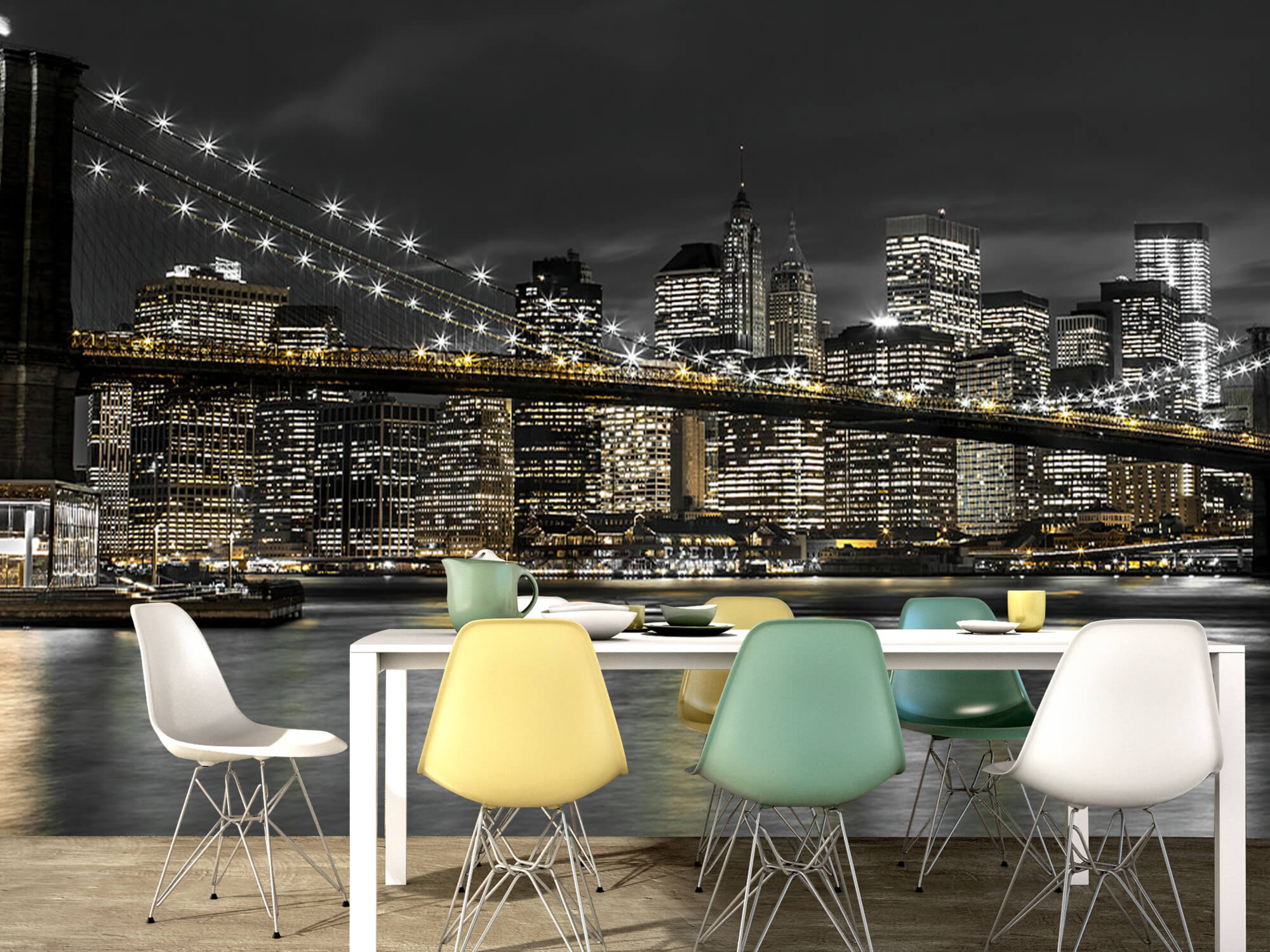 Brooklyn Bridge på natten 16