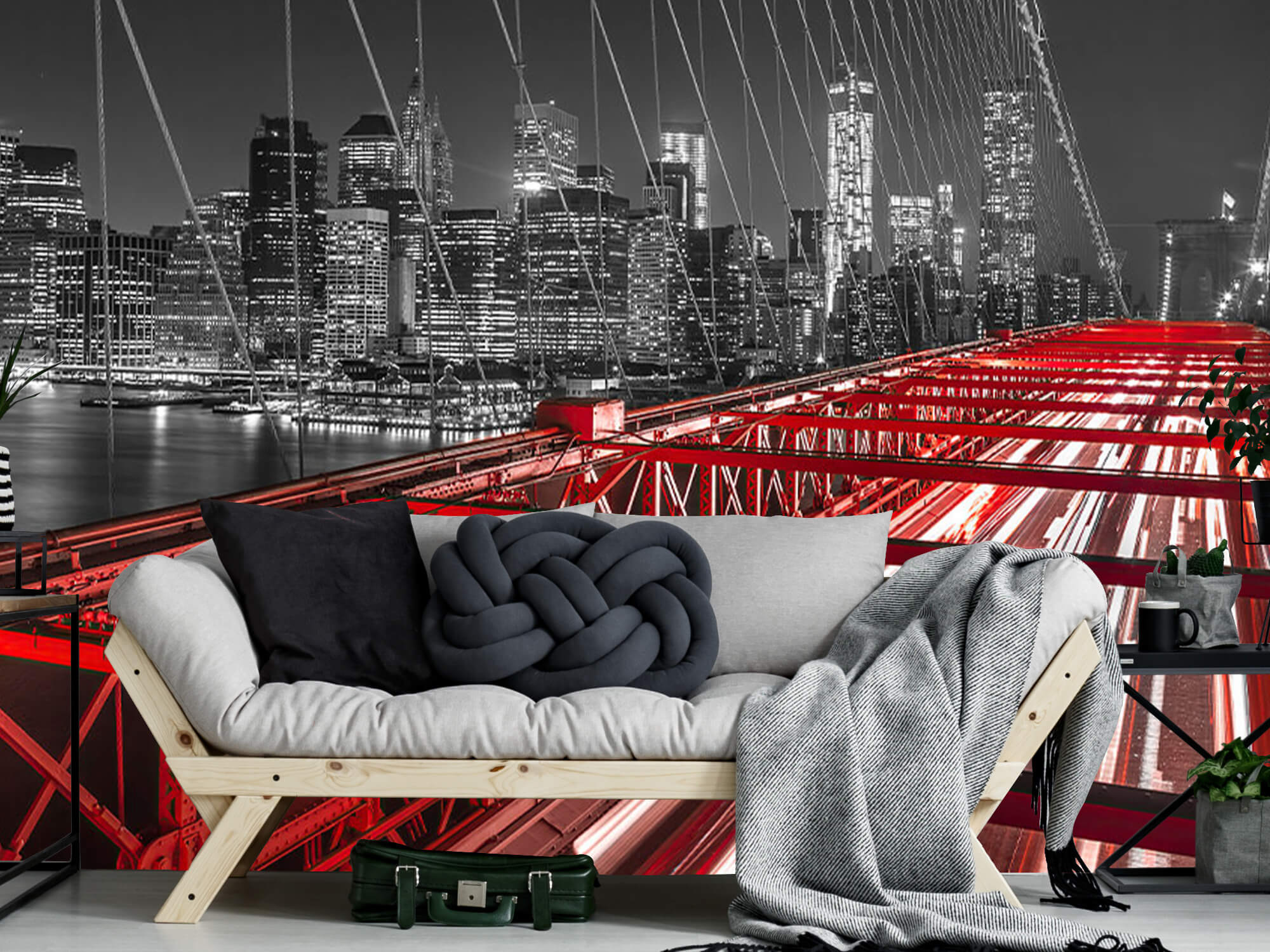 Röda Brooklyn Bridge 12