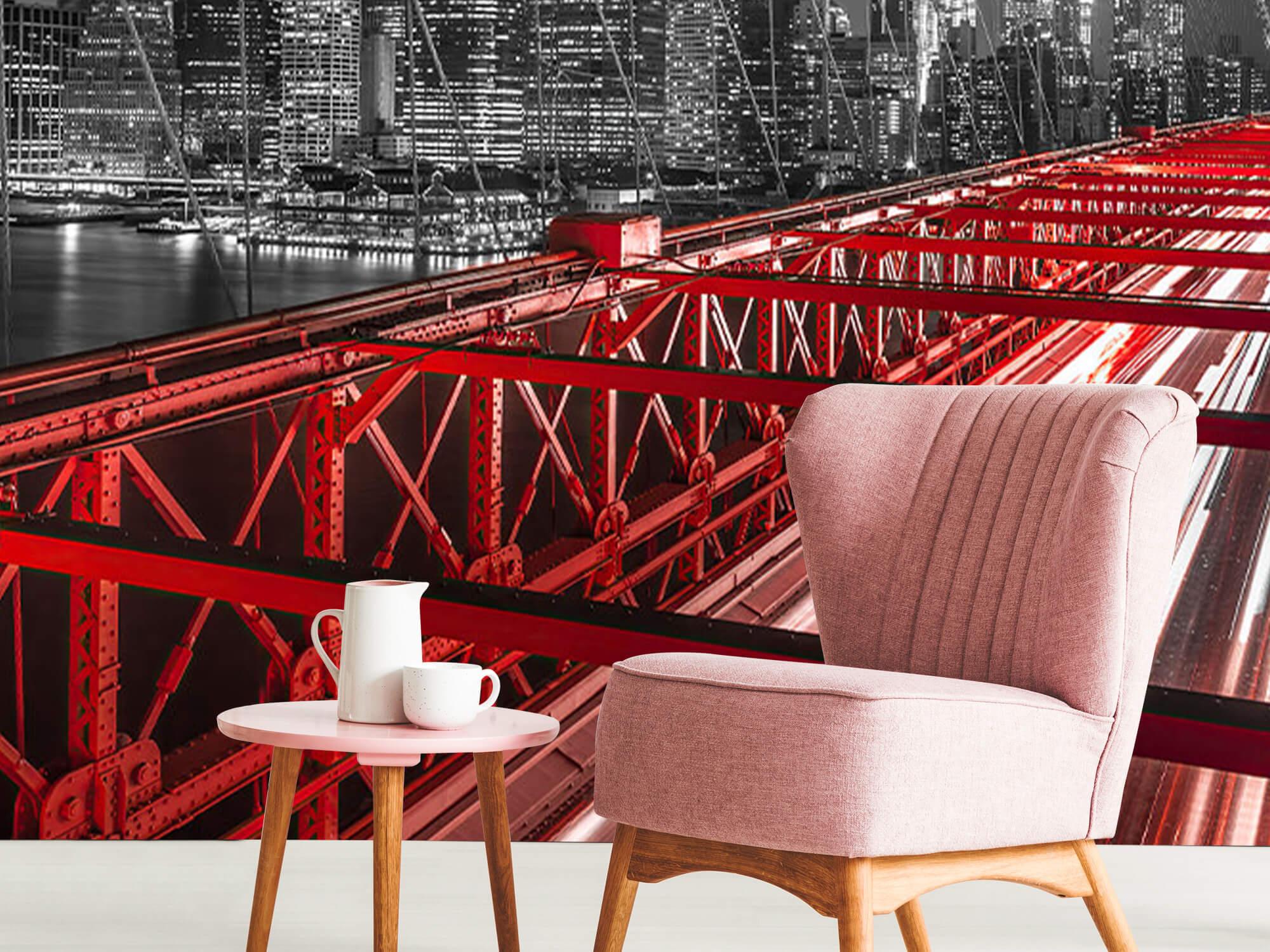 Röda Brooklyn Bridge 11